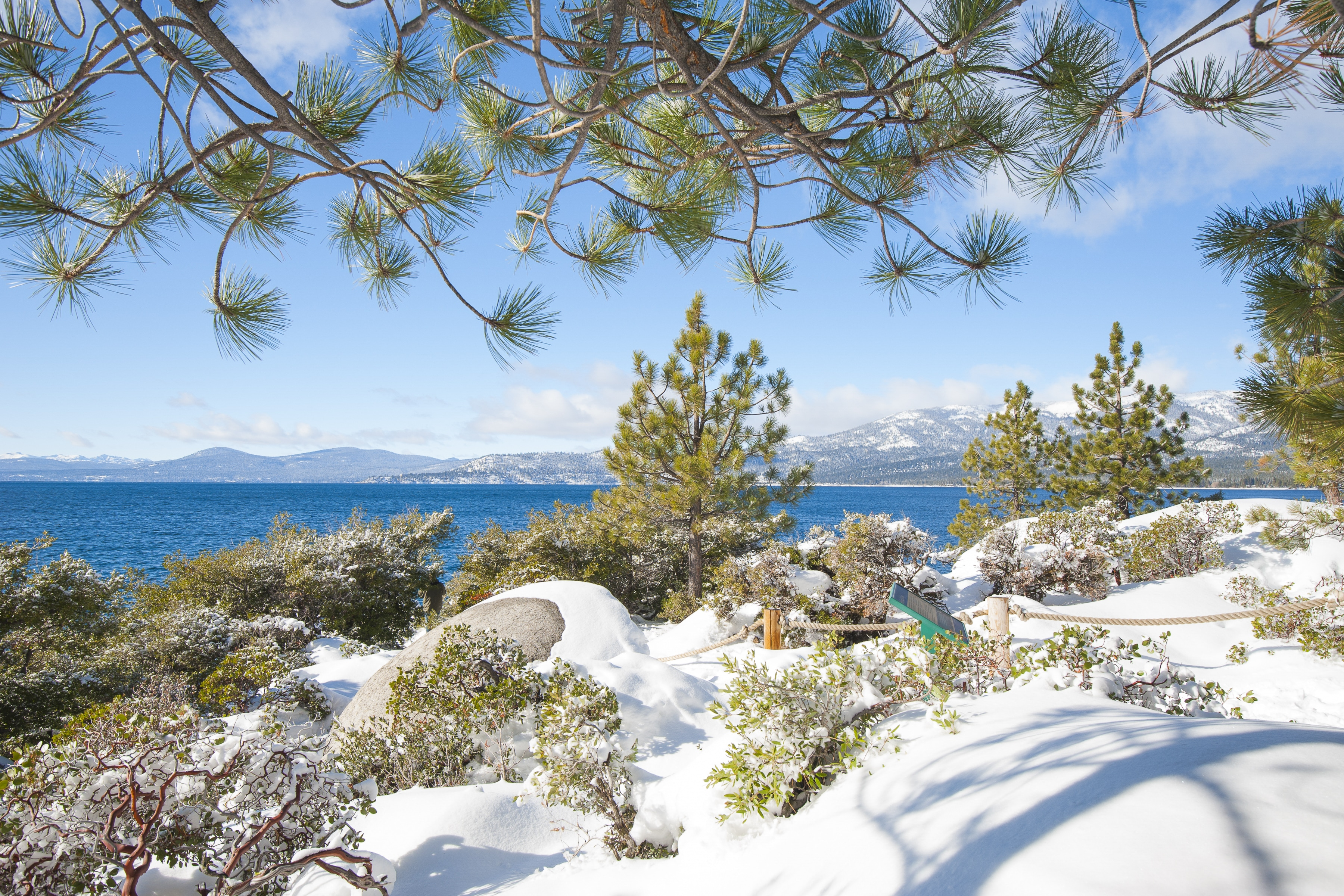 Make a short drive to take in the beauty of Lake Tahoe.