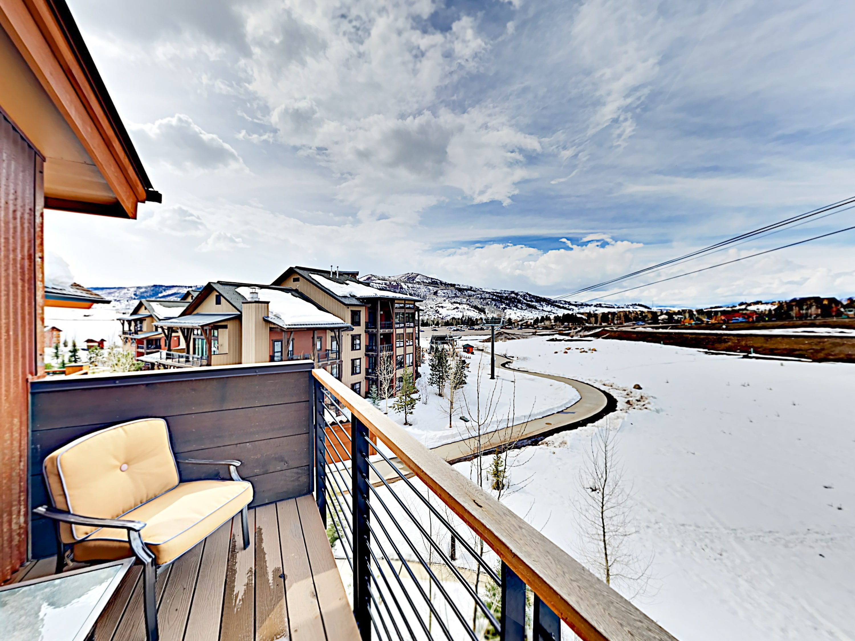 Take in magical valley vistas from the balcony.
