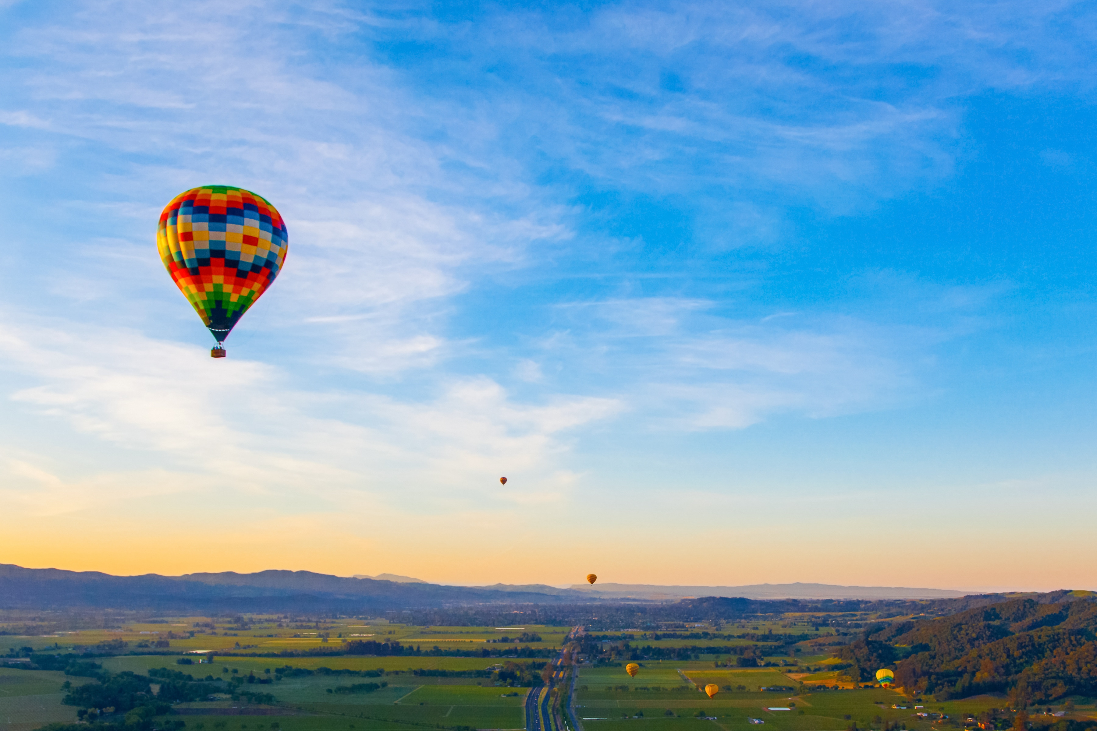 Hot air ballooning is a popular Sonoma pastime.