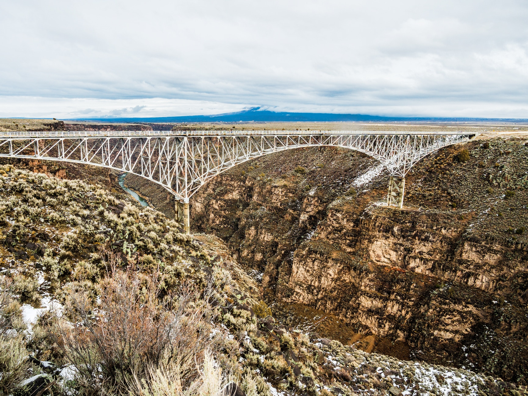 This rental is a short 19 miles from nearby Taos, where you can see stunning sites, such as the Rio Grande Gorge Bridge.