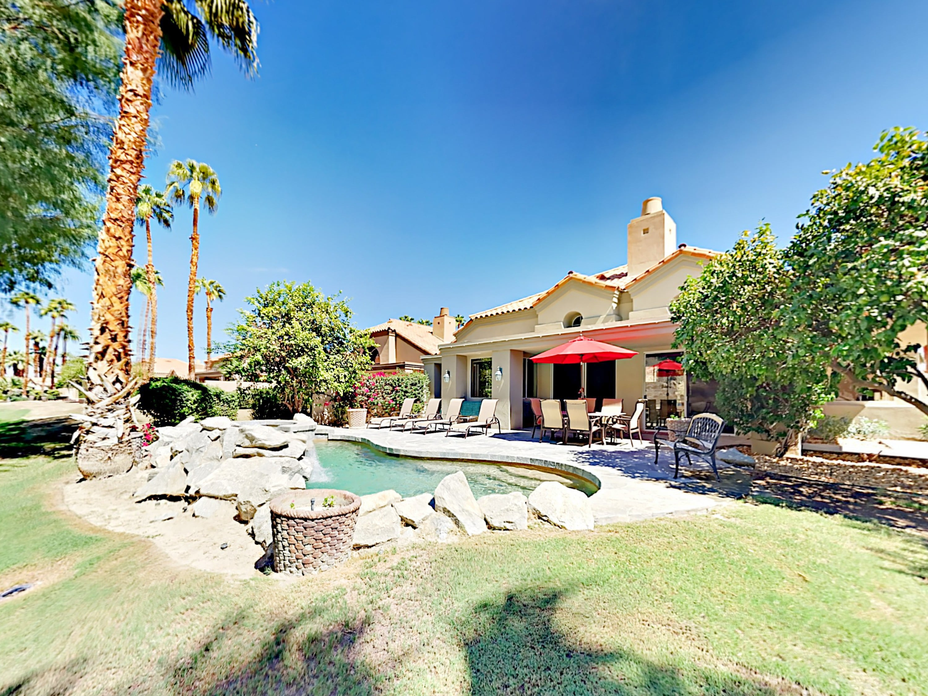 Welcome to La Quinta! Spend relaxing afternoons around your mountain-backed private pool and spa.
