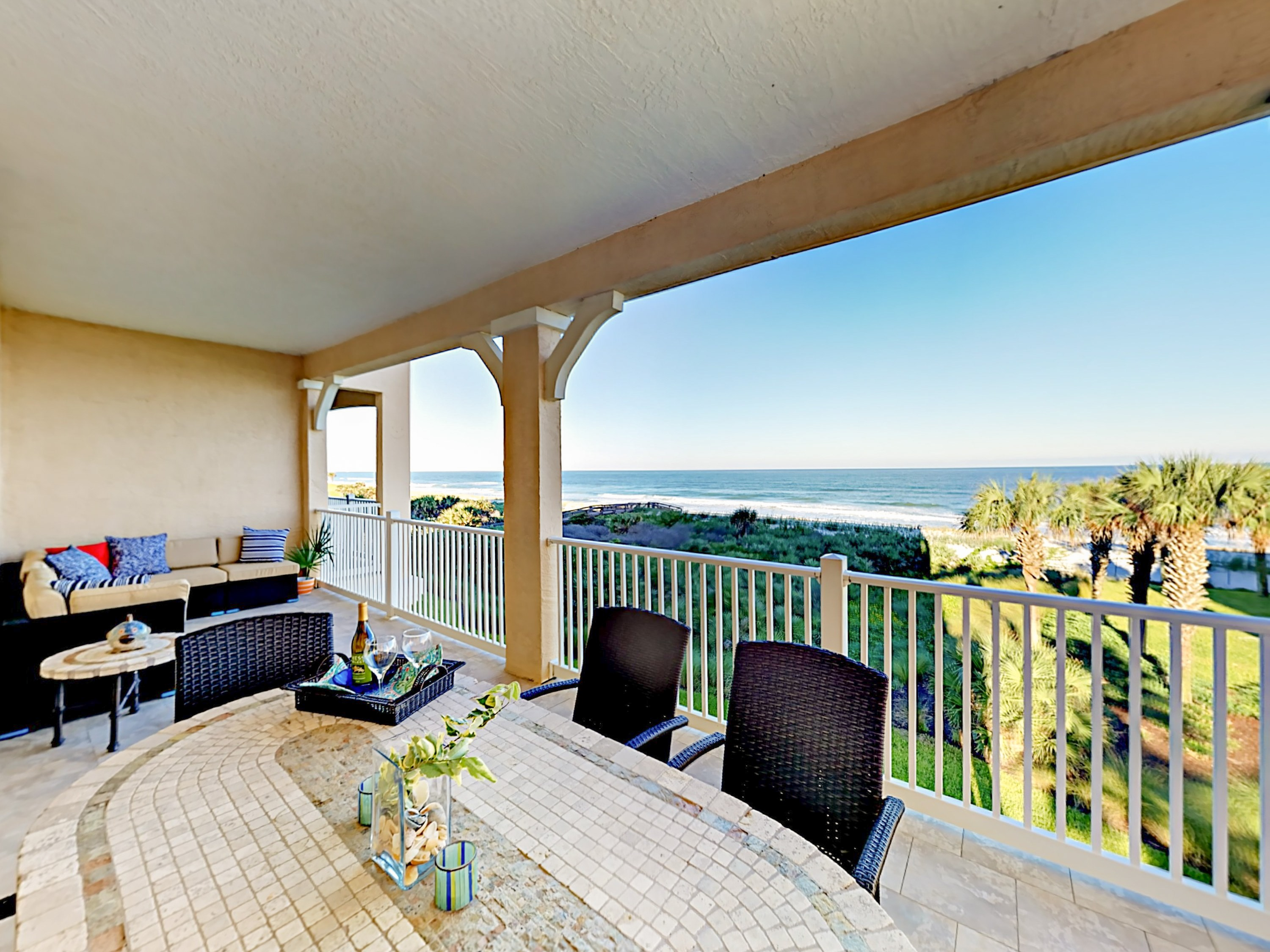 Welcome to Palm Coast! This corner unit is professionally managed by TurnKey Vacation Rentals.