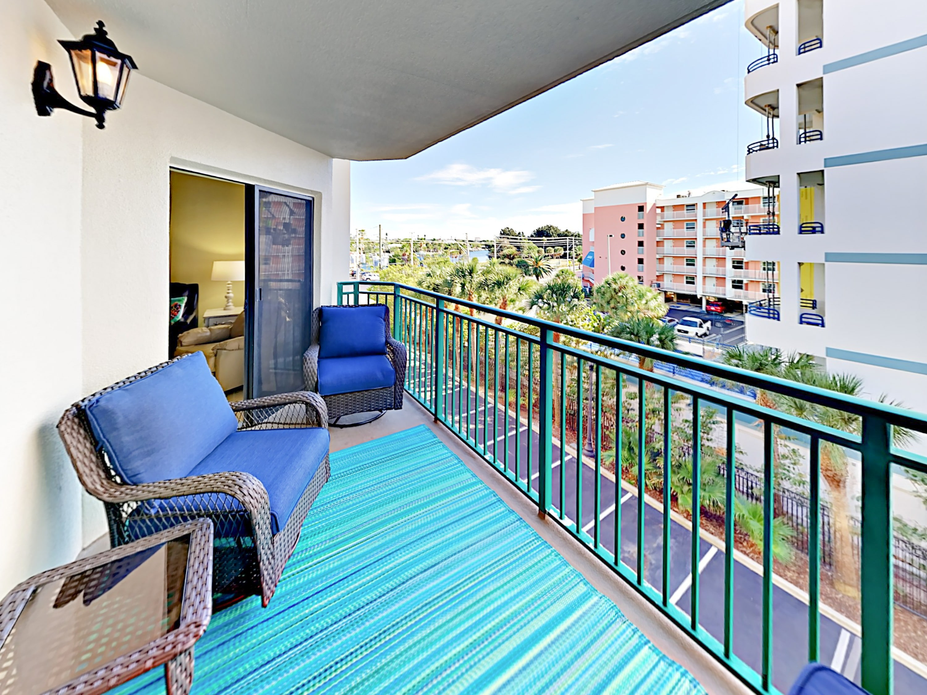Welcome to Saint Pete Beach, FL! Enjoy Gulf views on the breezy covered balcony.