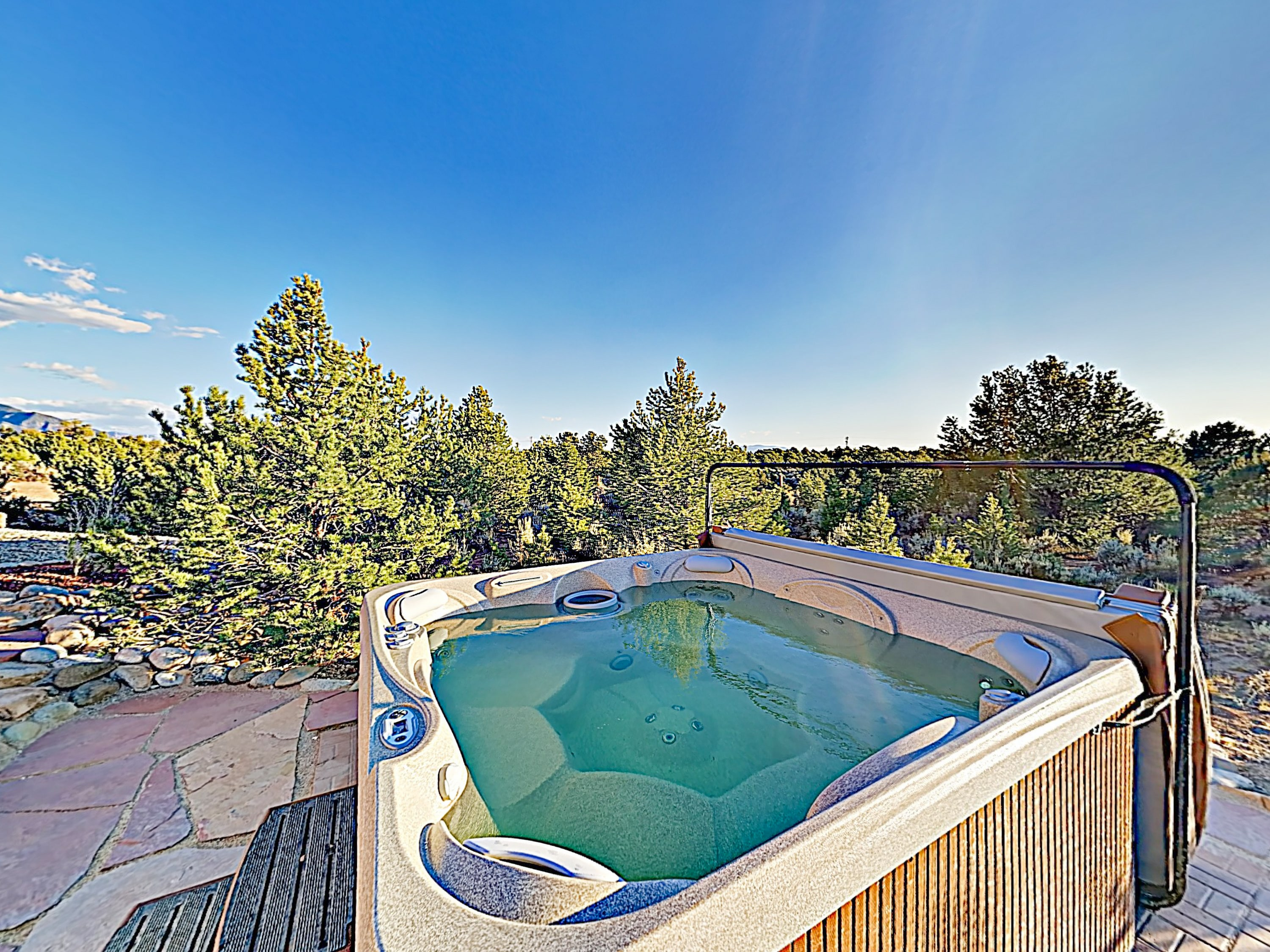 Fire up the private hot tub in your secluded backyard.