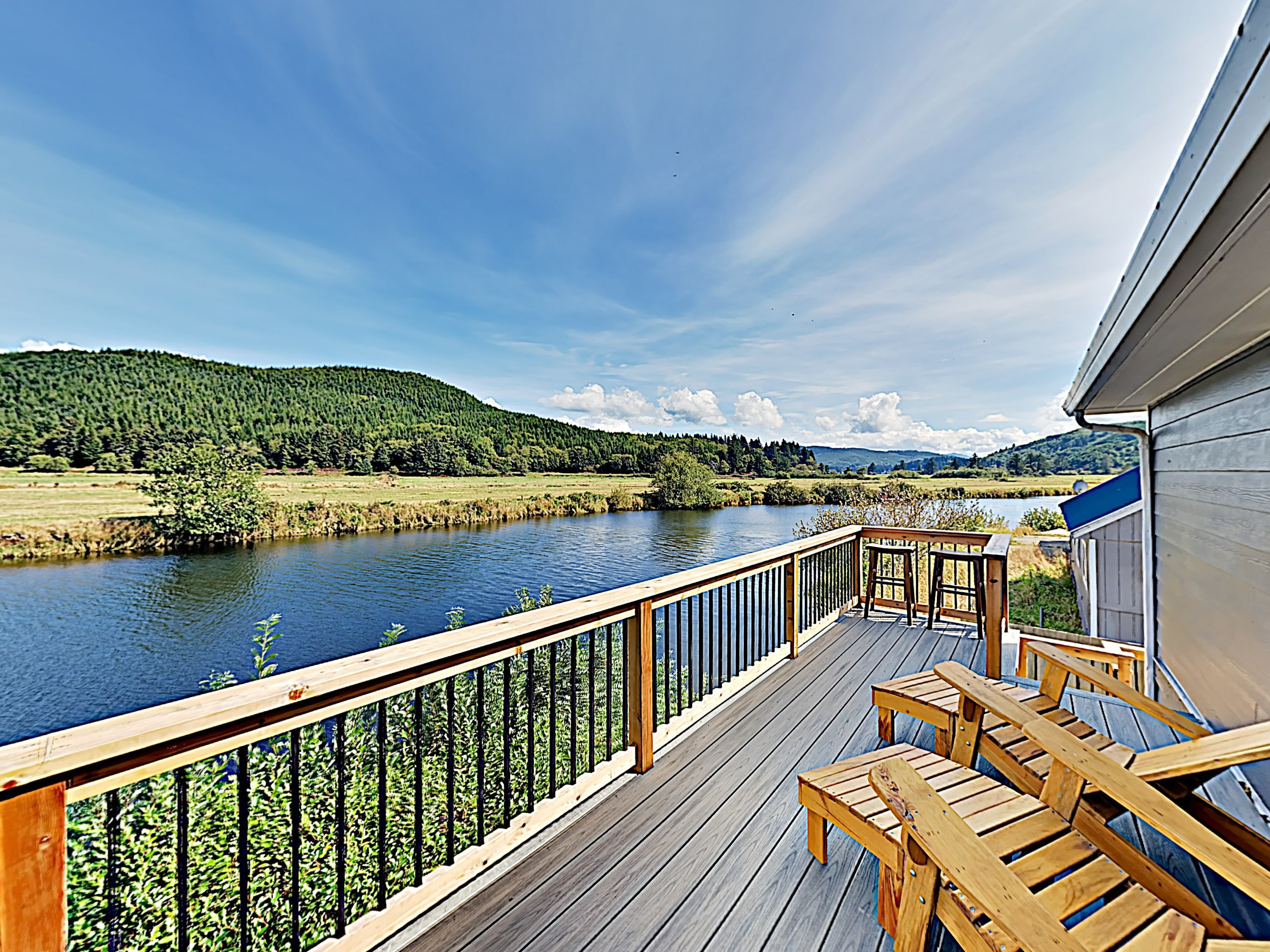 Start your day with views of the Nestucca River on the expansive deck.
