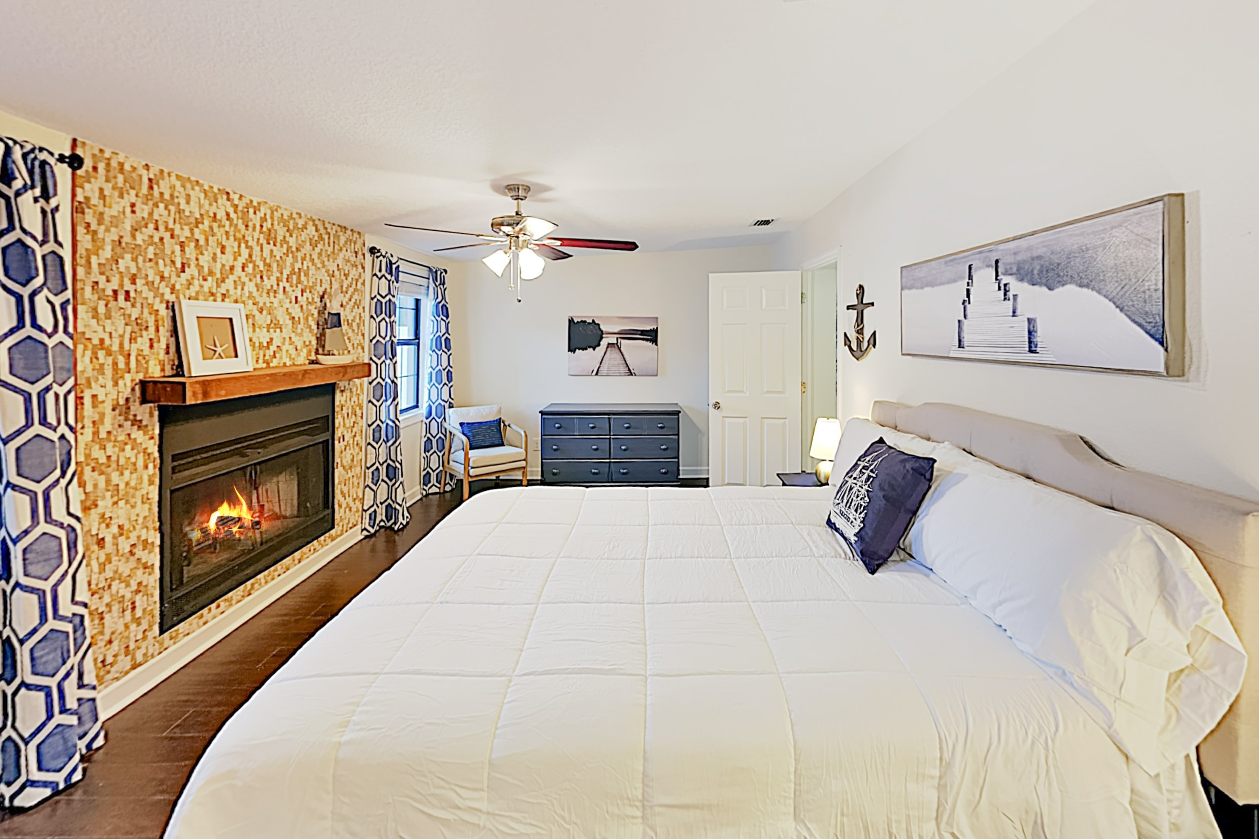 Enjoy the master bedroom's wood-burning fireplace!