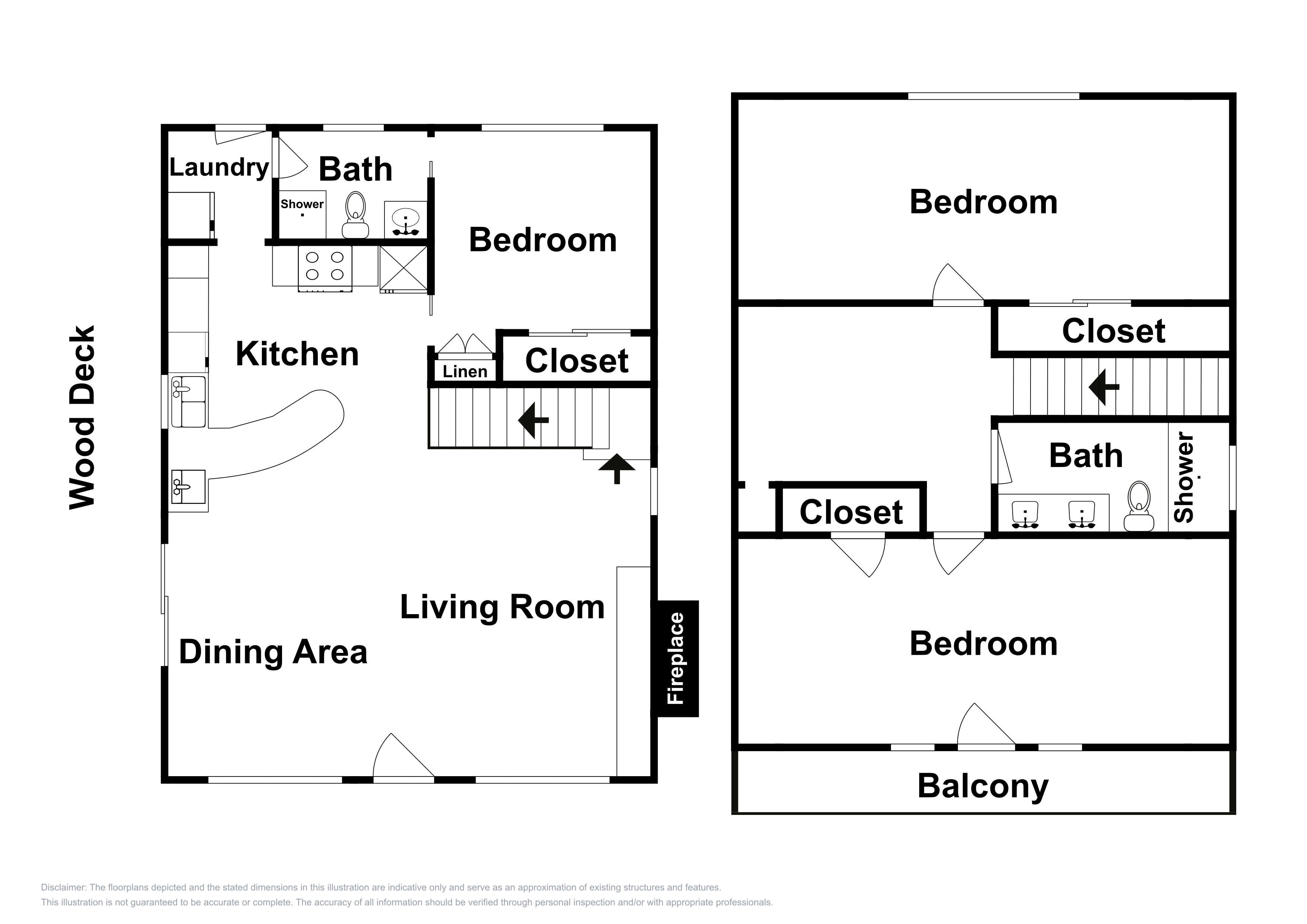 This floor plan is an approximation and is not an exact representation.