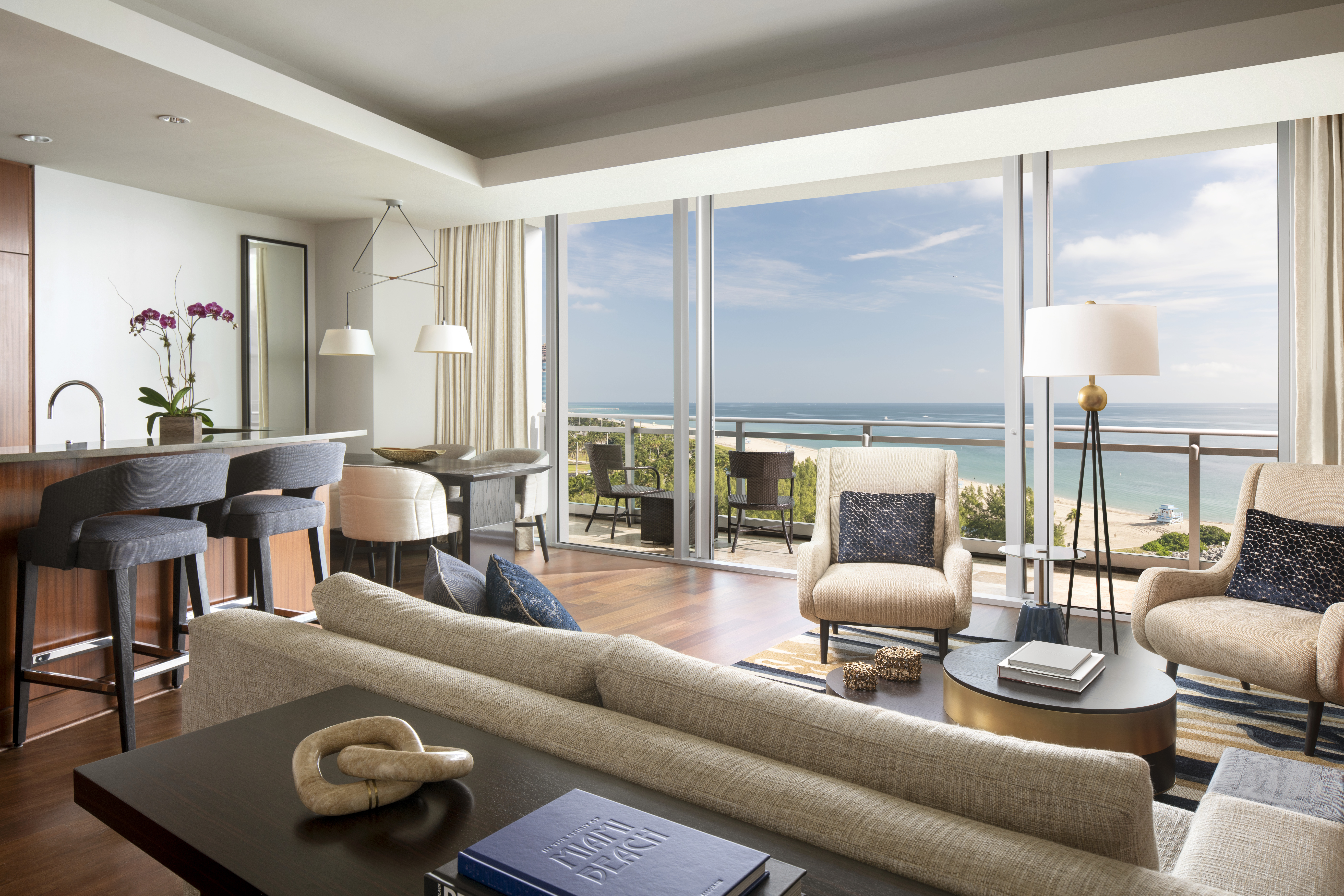 Living room with ocean view,The Ritz-Carlton Residences, Bal Harbour