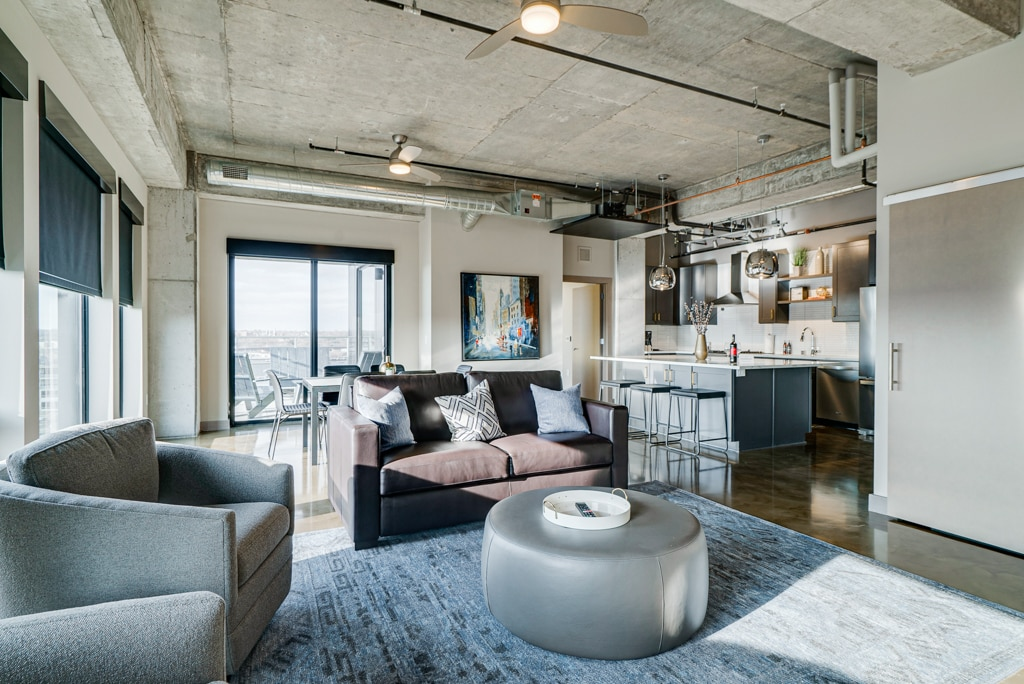 Chic Penthouse with Private Balcony & Fireplace