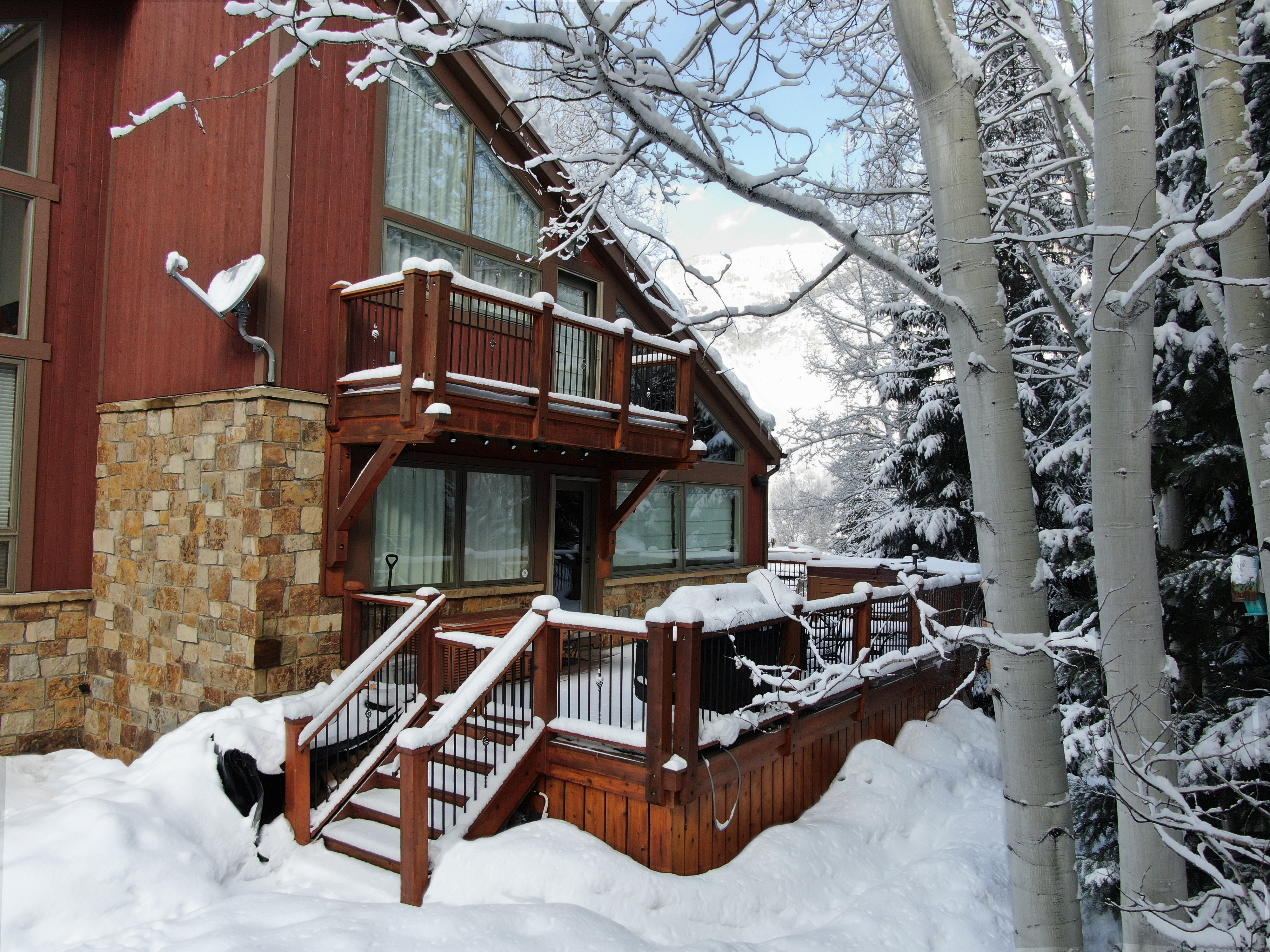 Property Image 2 - Tree-Nestled Ski Chalet with Close Transportation Access