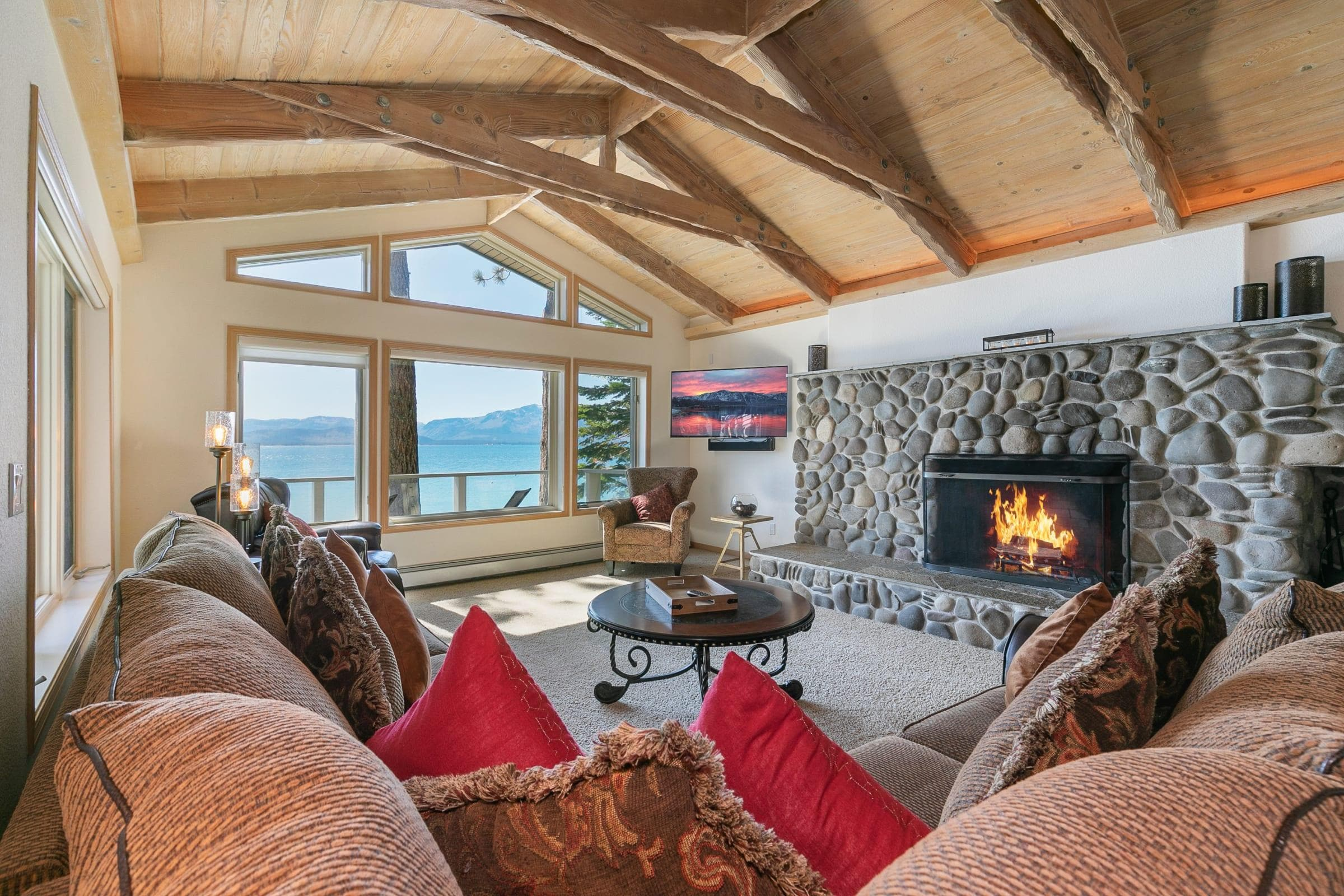 Lakefront Home with Private Beach Access & Hot Tub