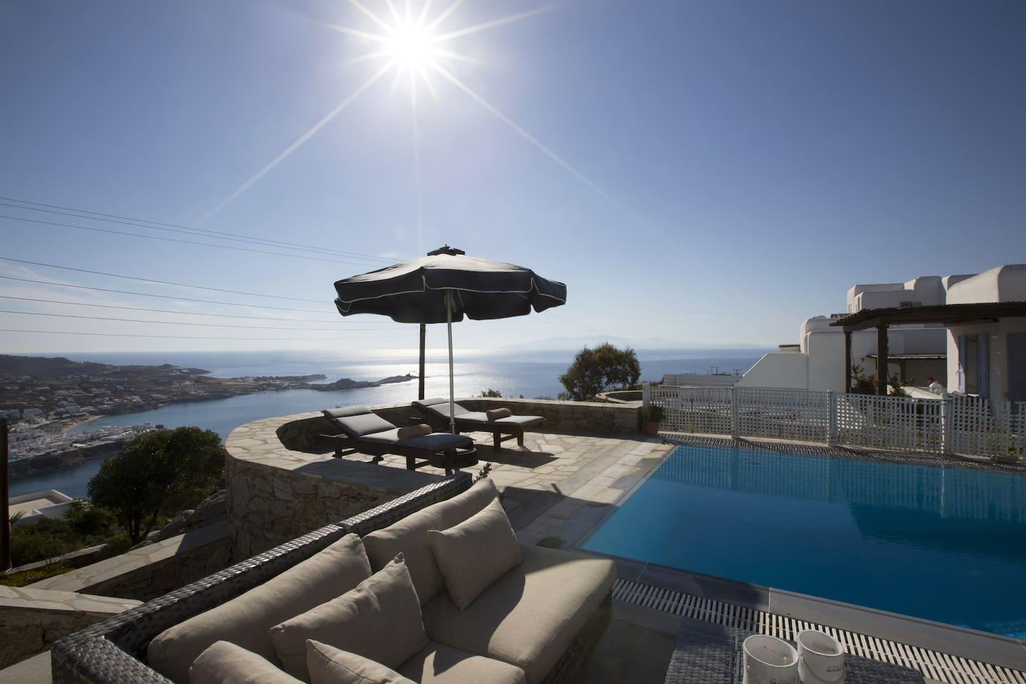 Property Image 1 - Bright Sunshine Villa with Breathtaking Psarrou Beach View