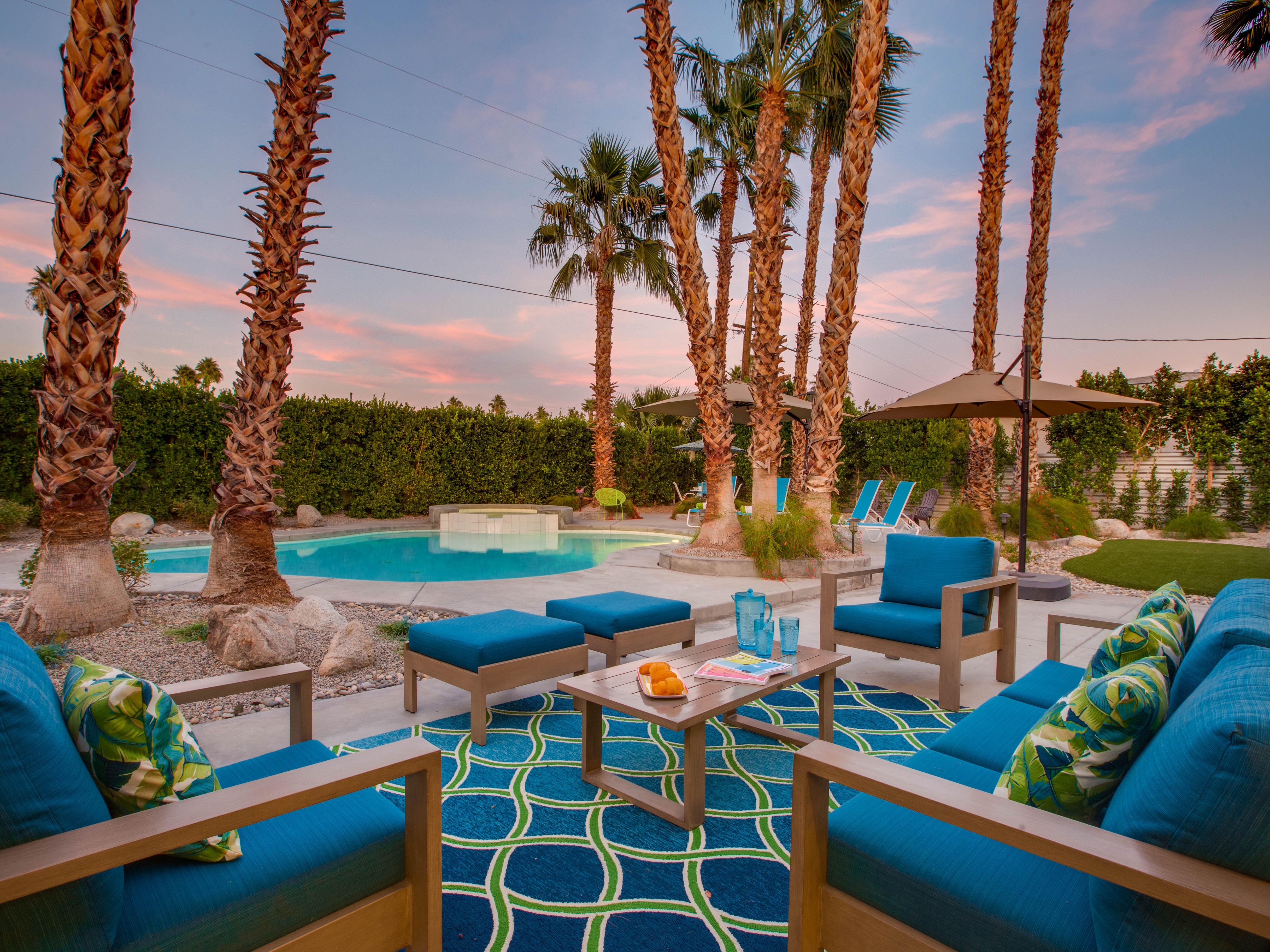 Property Image 2 - Updated, whimsical home Palm Springs with Resort Yard