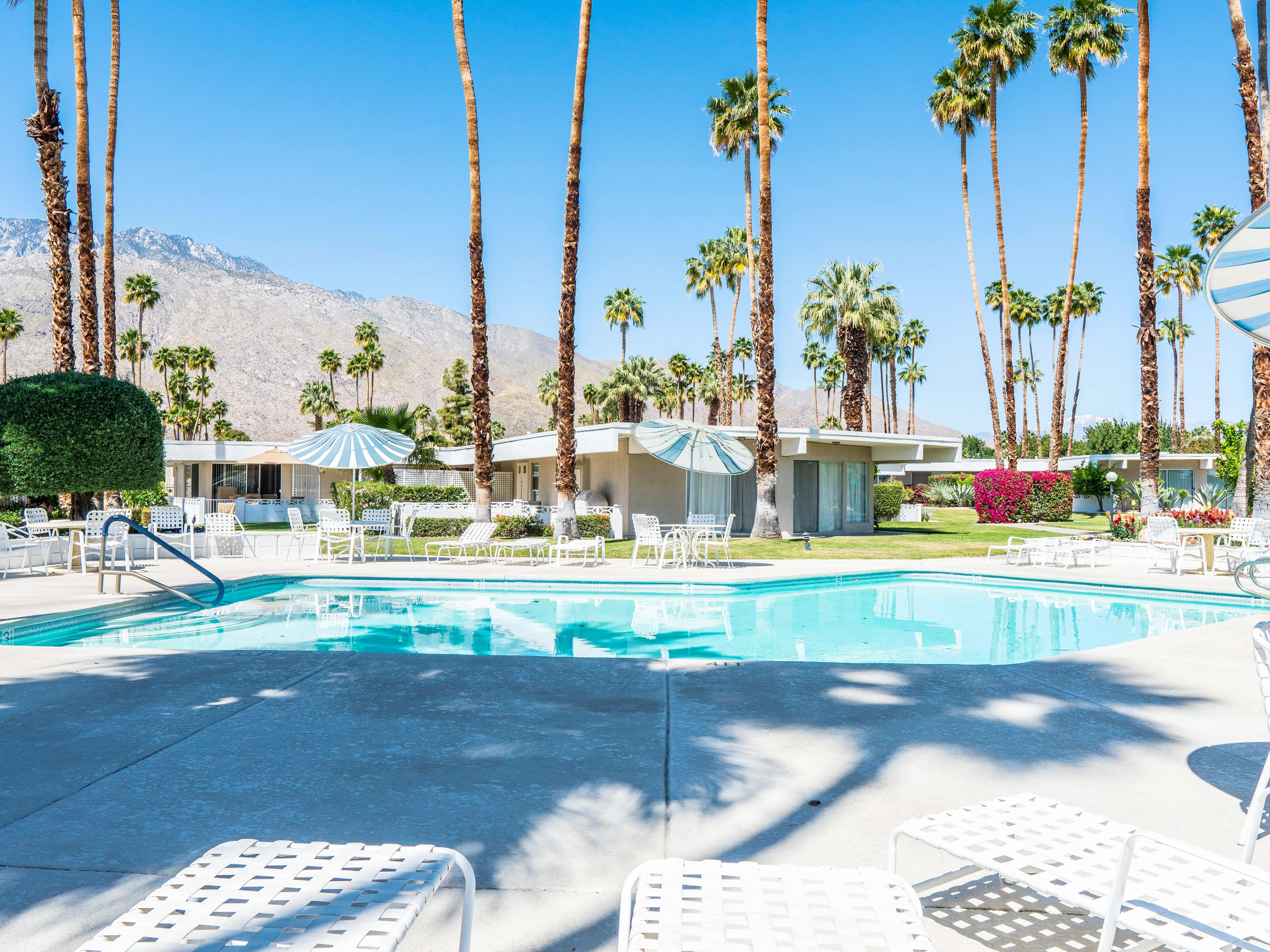 Walk to Town from Remod Designer Condo in Palm Springs