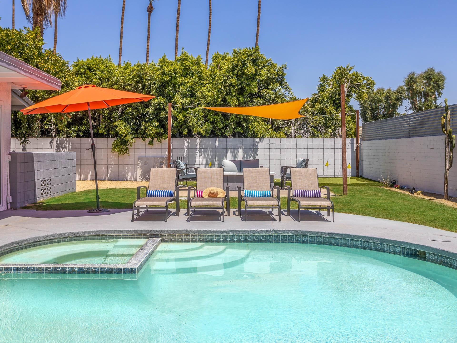 Property Image 1 - Resort-Yard Palm Springs Home with Putt Green/Ping-Pong