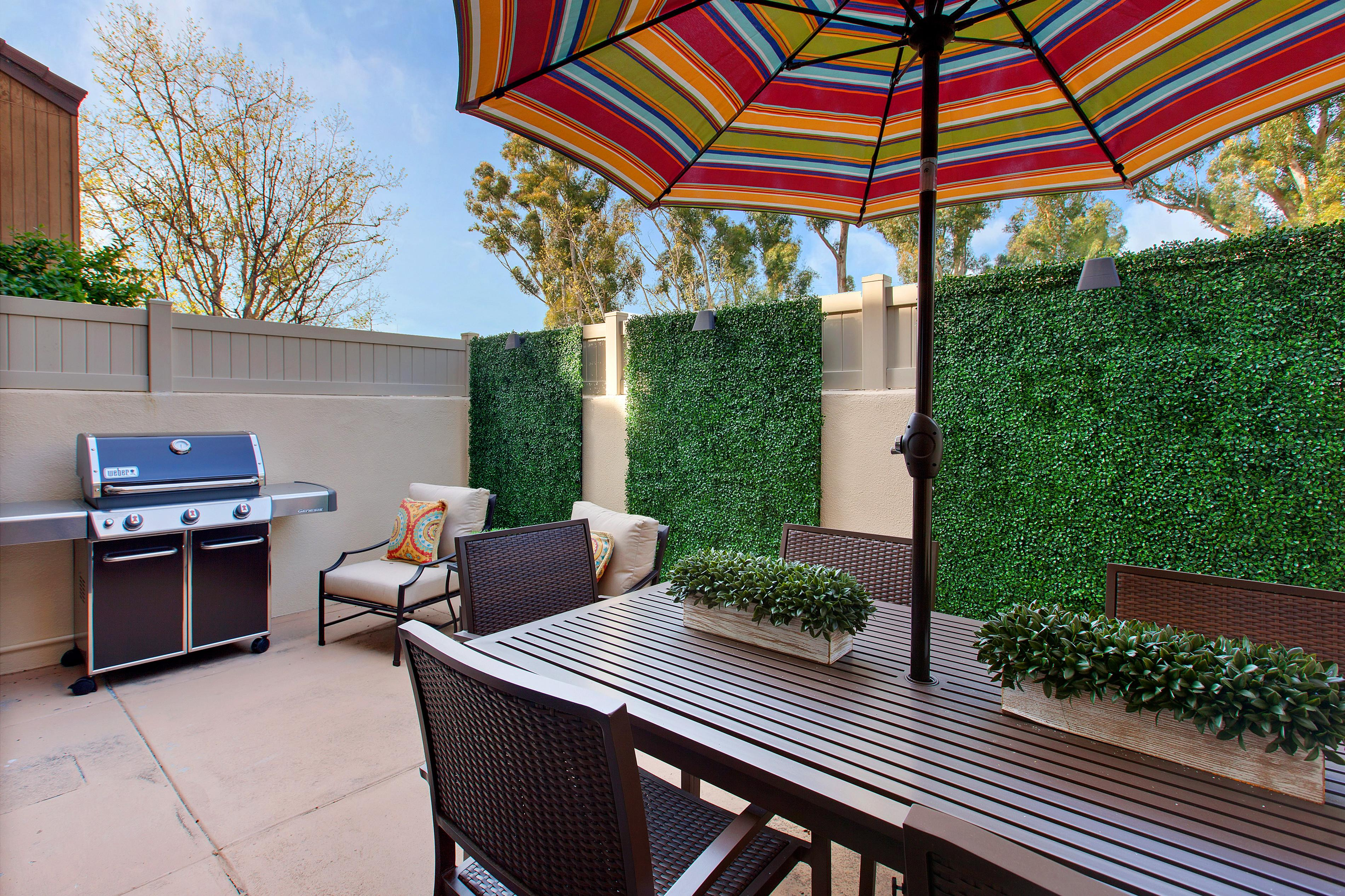 Fire up the grill and dine al fresco on the private patio.