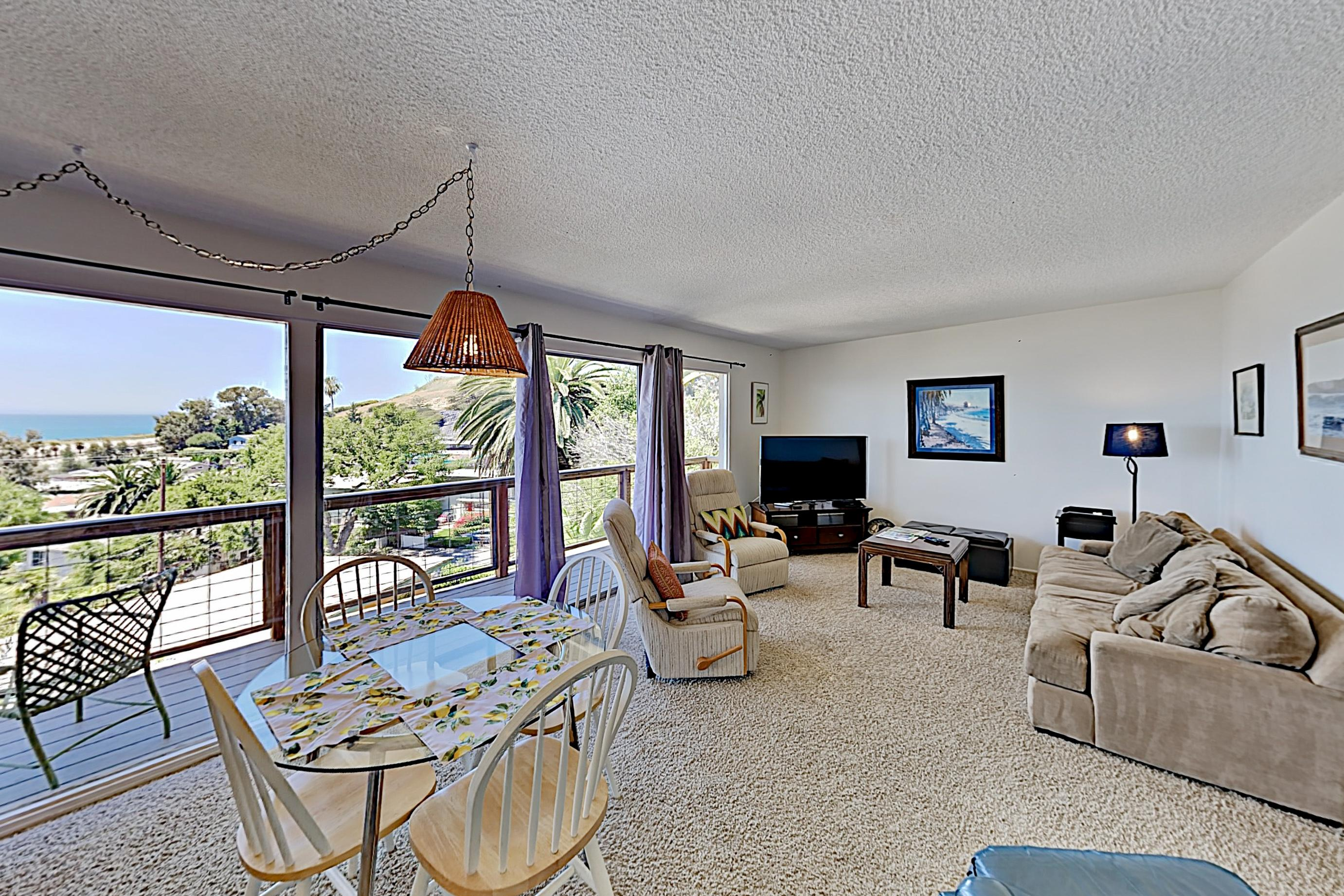 Sunsoaked, Oceanview Home with Balcony; Walk to Beach & Dining