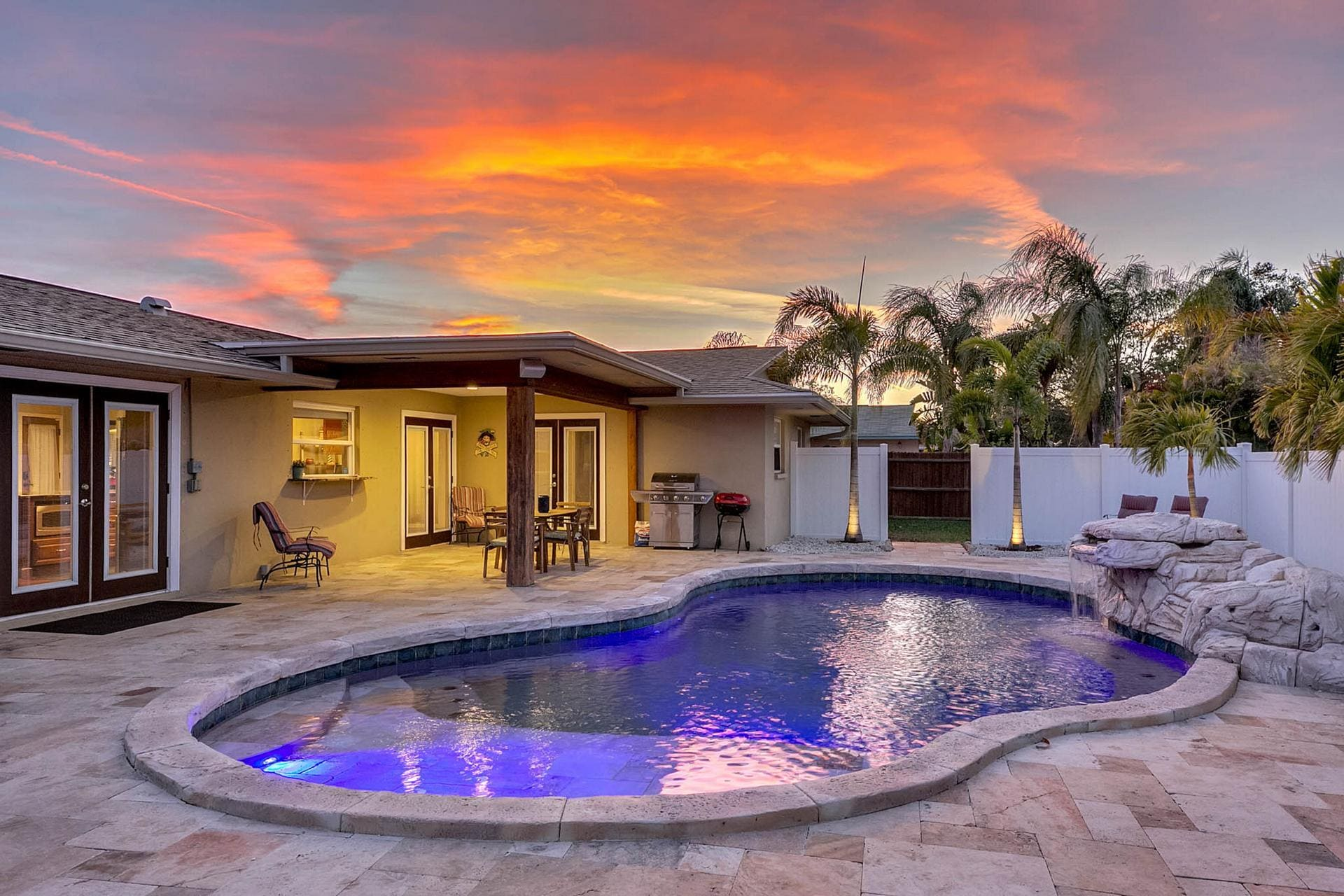 Welcome to your home in Seminole! Discover ultimate relaxation in your private lagoon pool.