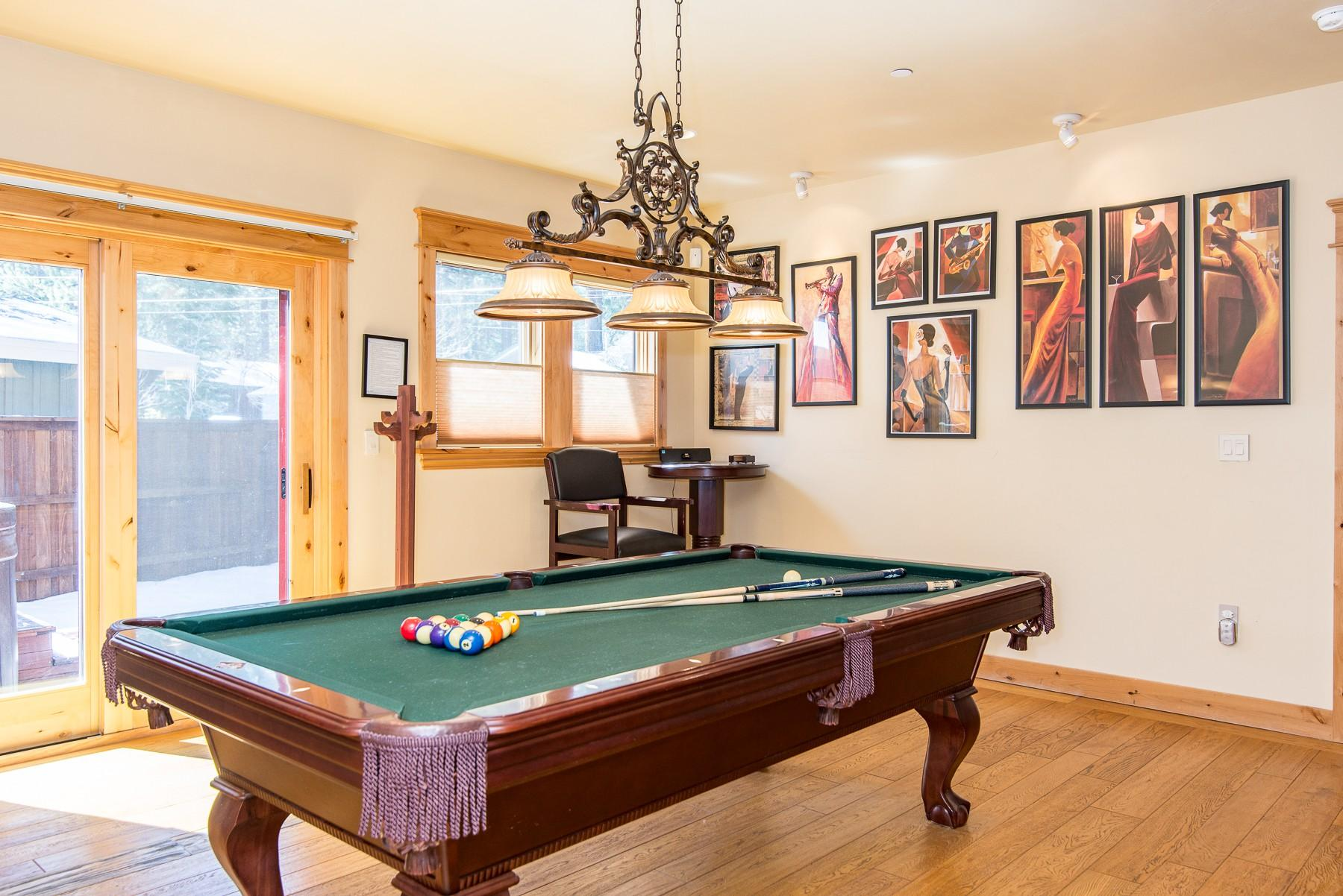 Rack up the pool table in the downstairs game room.