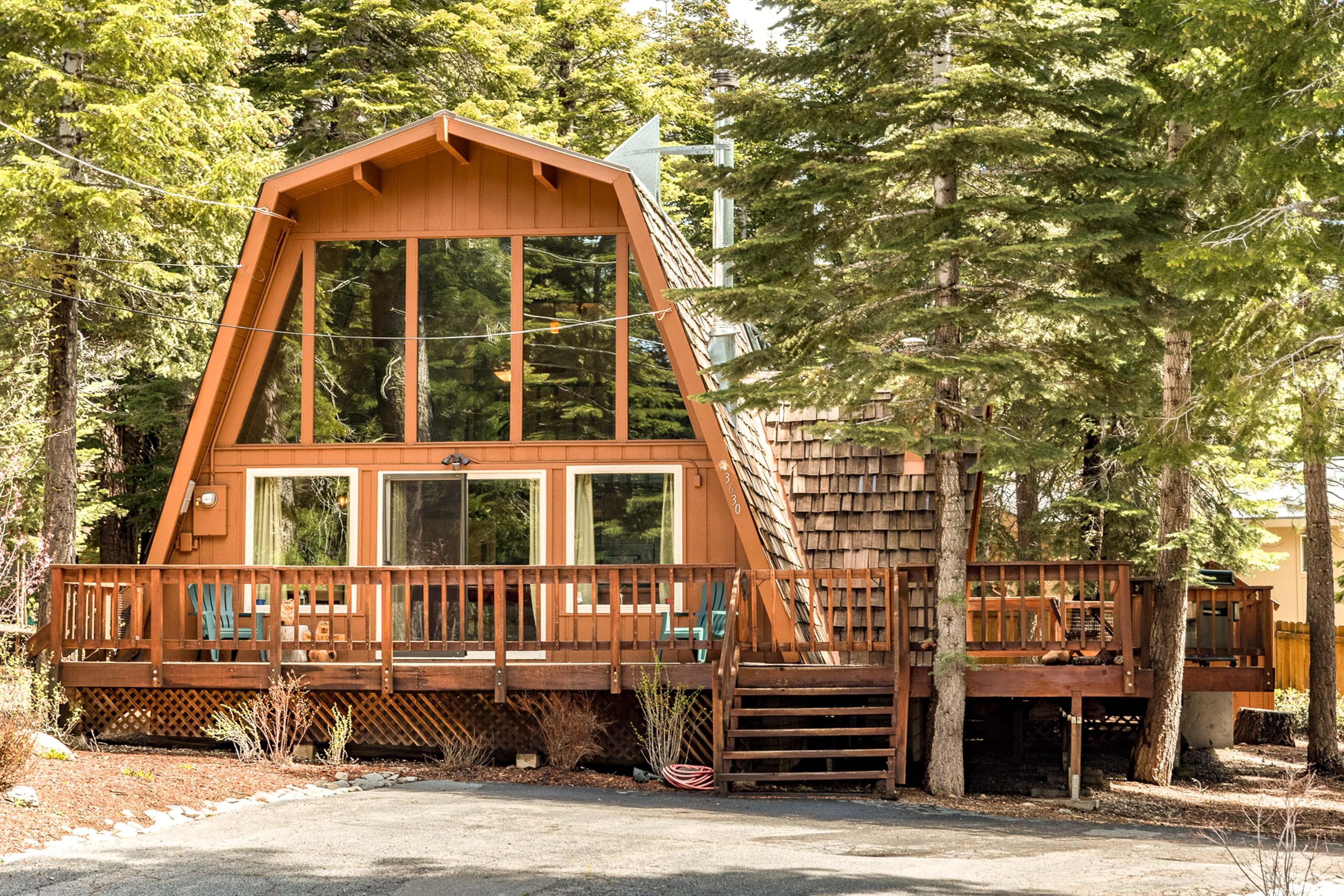 This rental is directly across the street from a big network of Tahoe's best trails.