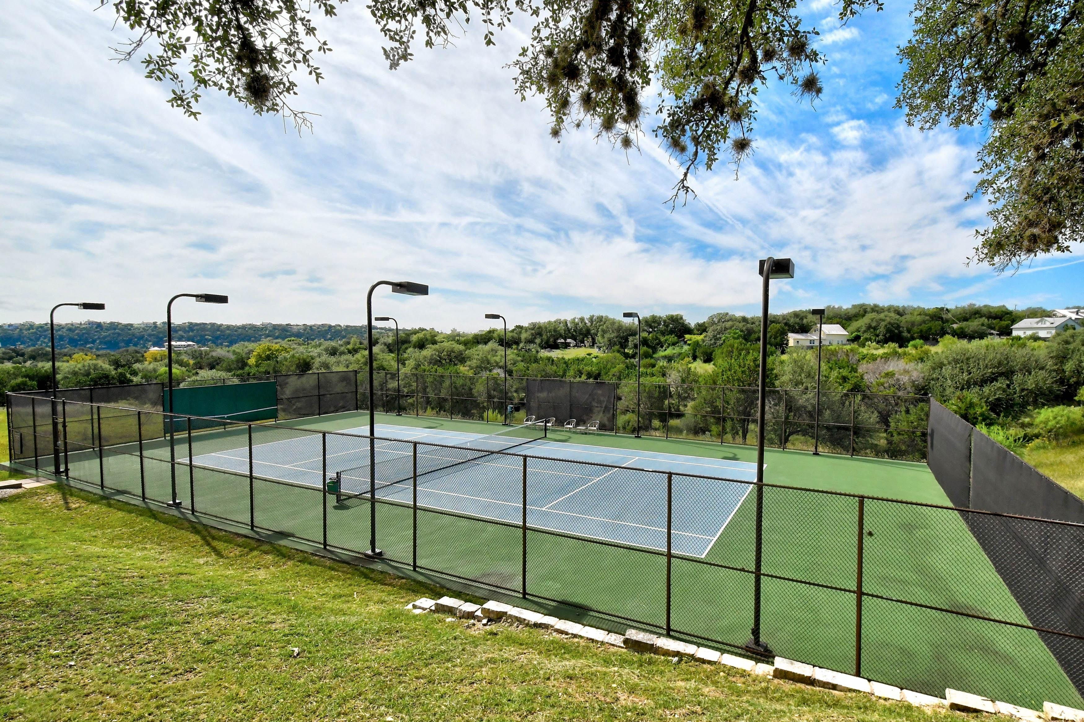 Stay active on the community tennis courts.
