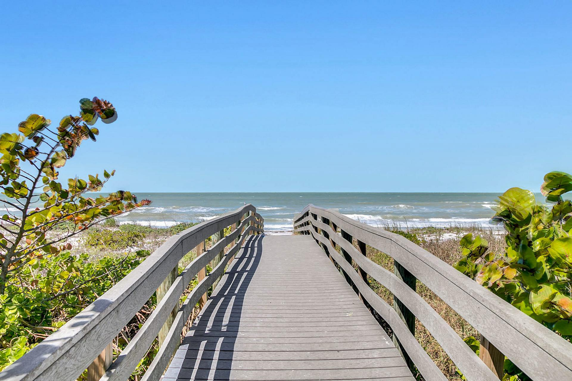 Easily access the beach with convenient walkways.