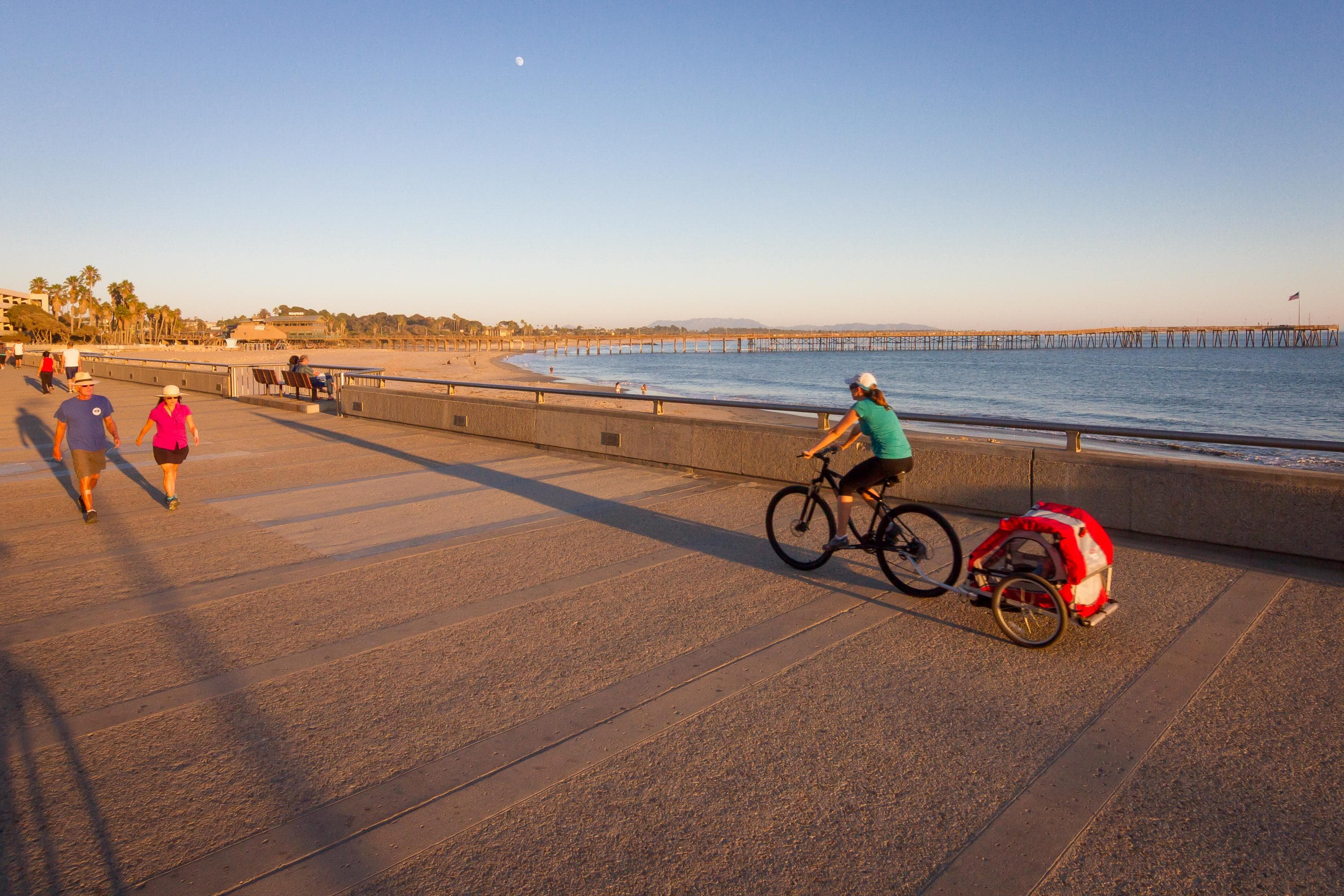 Start your days with a leisurely oceanside walk or bike ride.