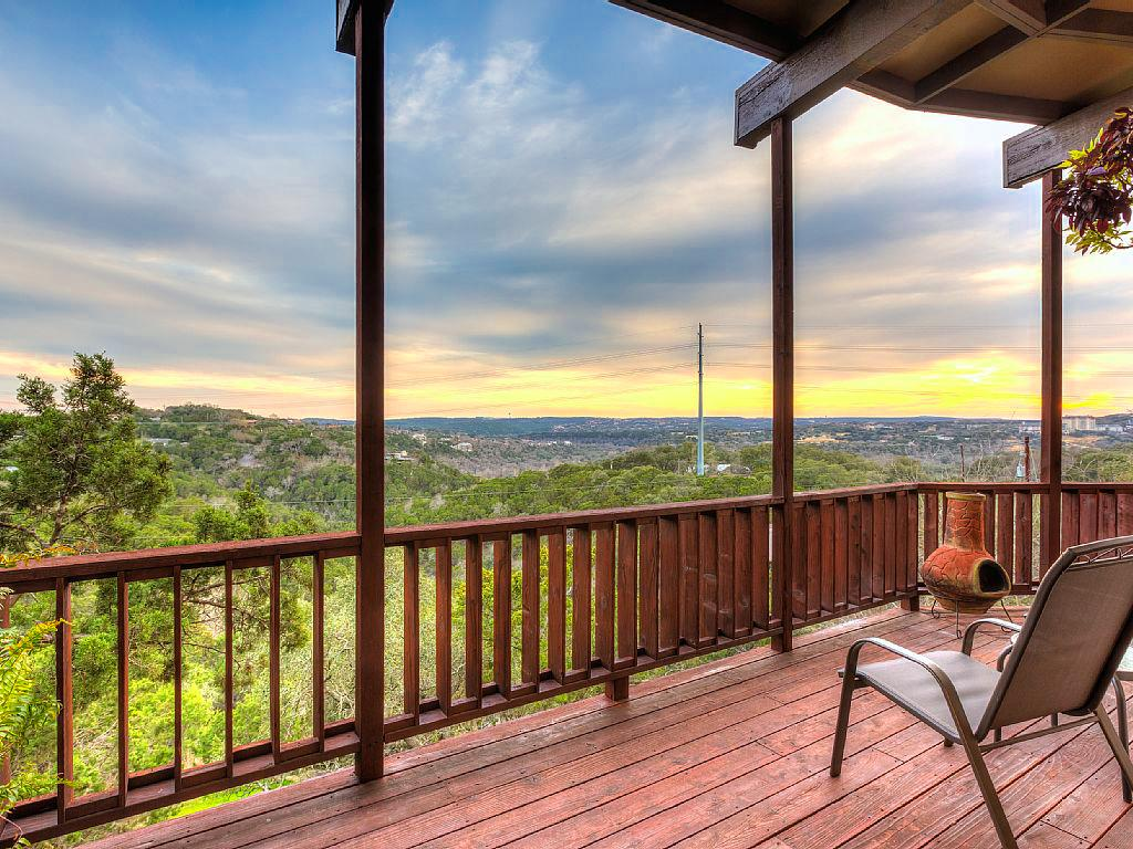 Welcome to Austin! A deck spans the entire width of this one-of-a-kind Hill Country property!