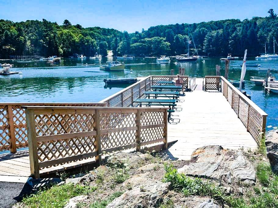 Pack a picnic and venture to the town dock.