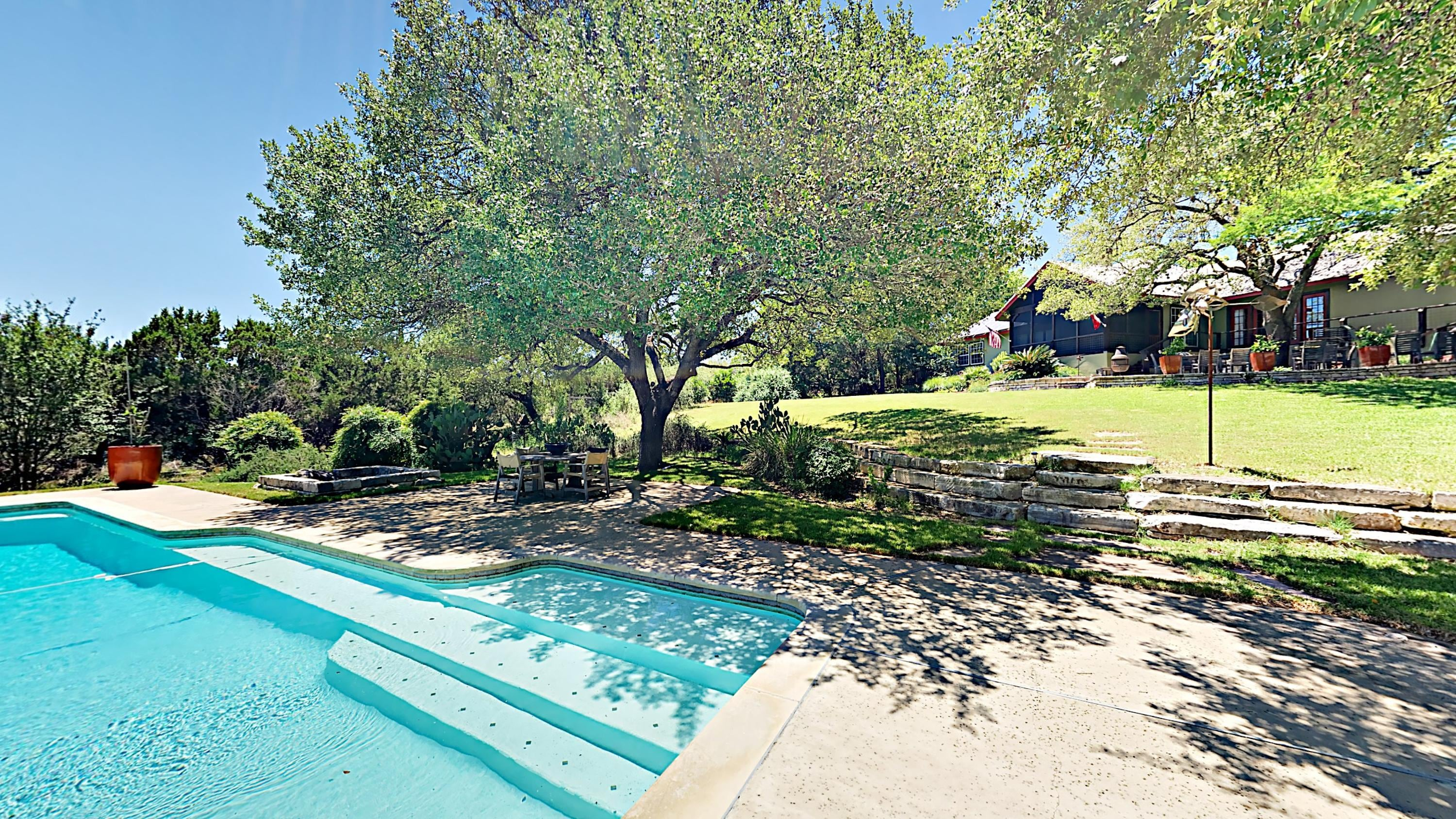 Welcome to Austin! A pool awaits right outside your door.