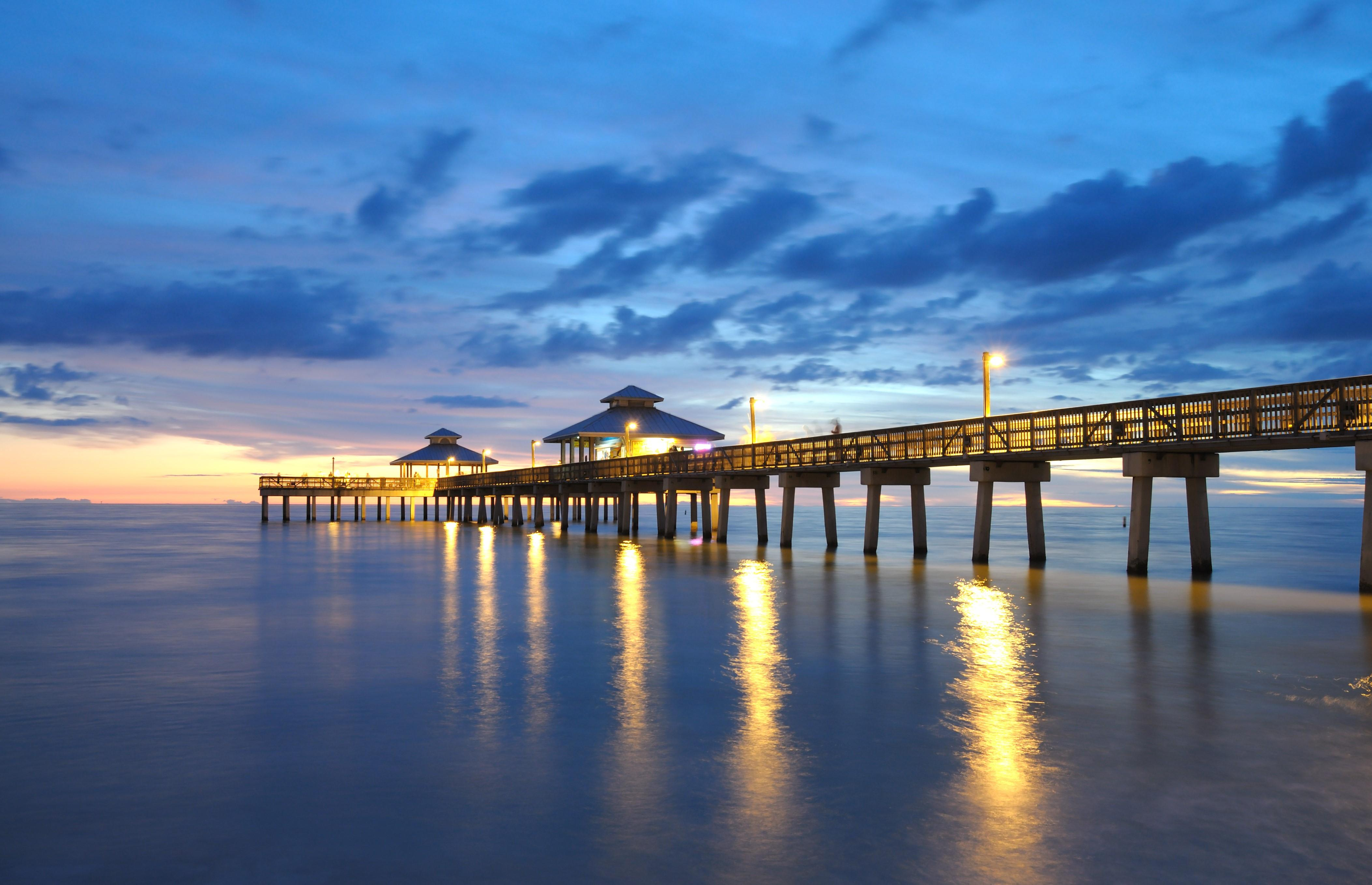 Spend a day fishing on the pier.