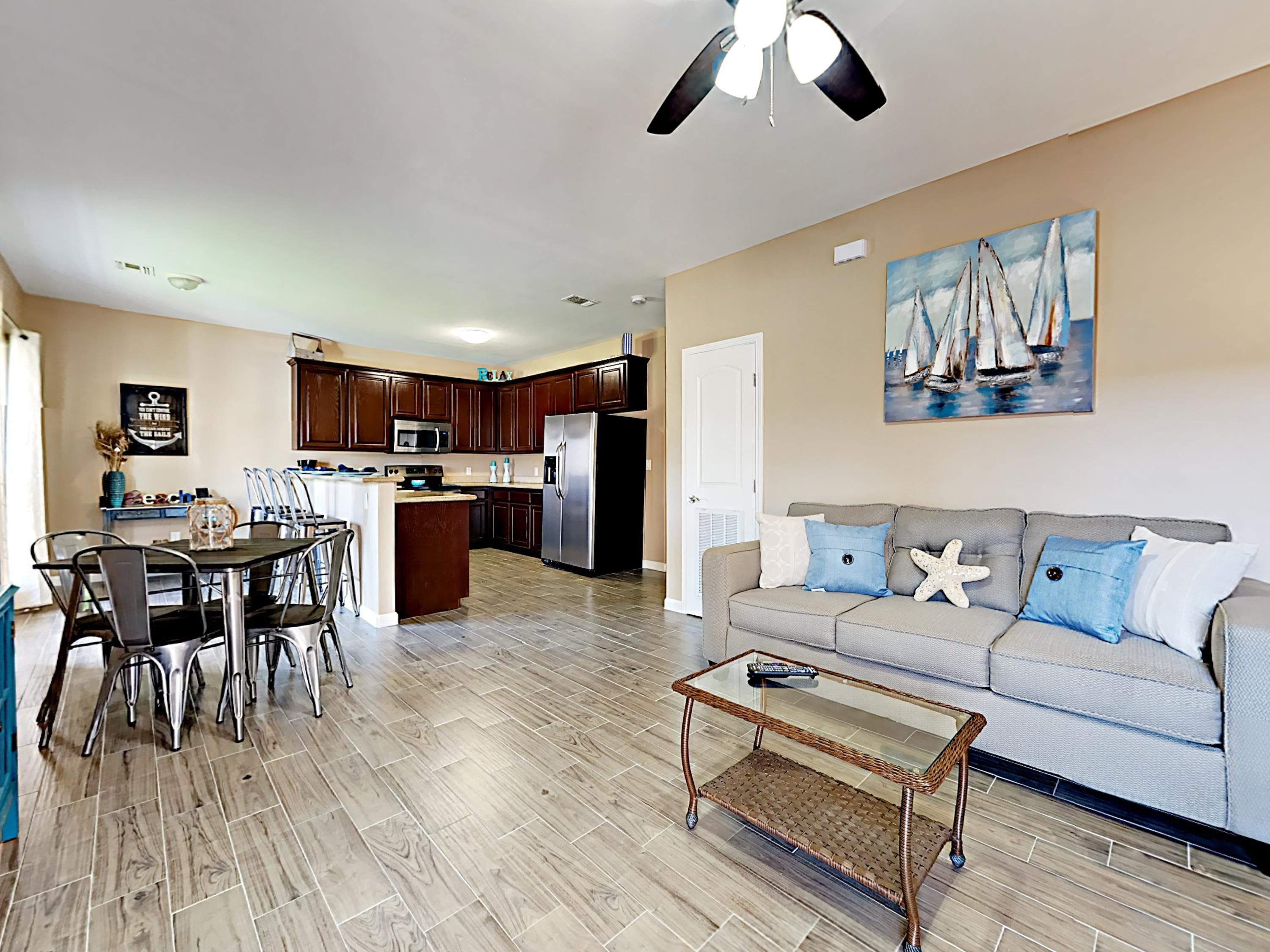 Welcome to South Padre Island! The open concept floor plan is perfect for groups.