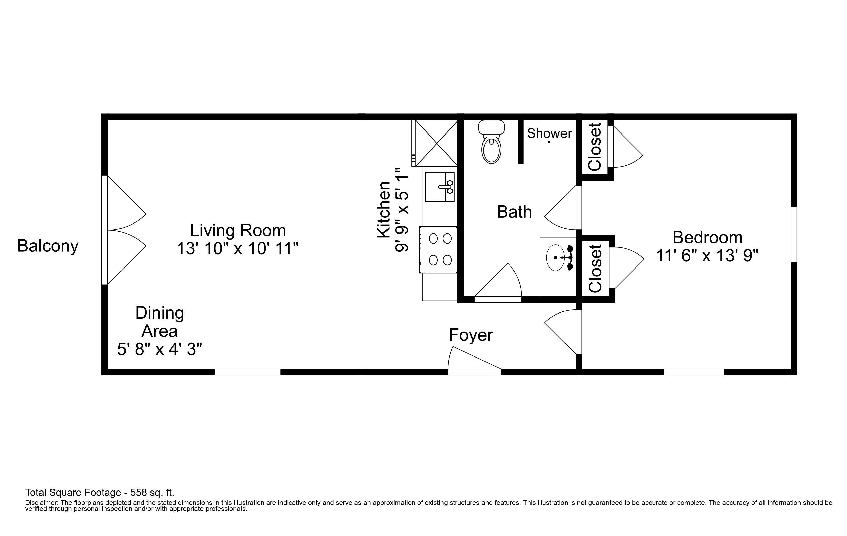 Disclaimer: This floor plan is an approximation and may not include the most recent information.