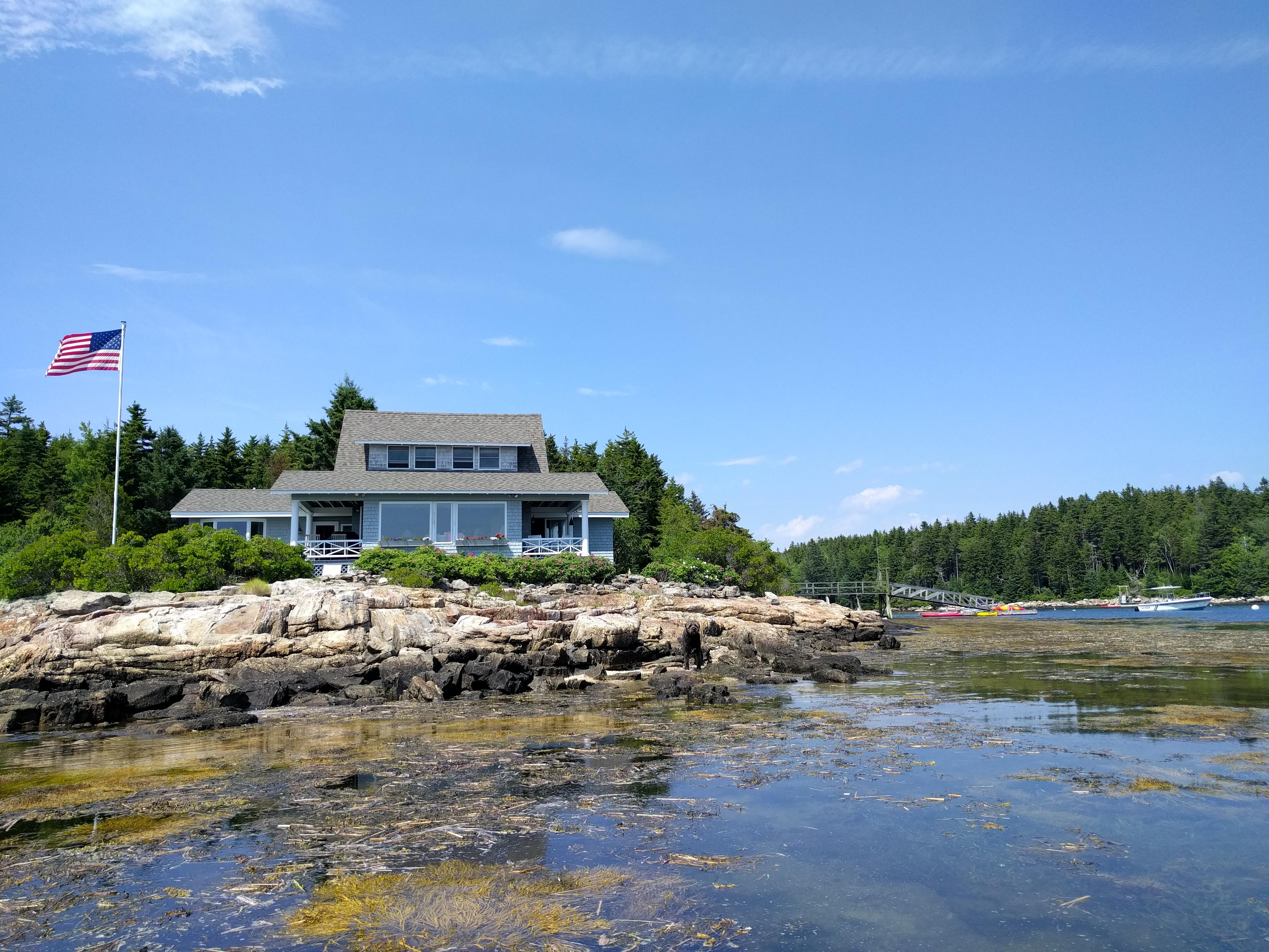 Enjoy your own paradise perched above Maine's craggy coastline.