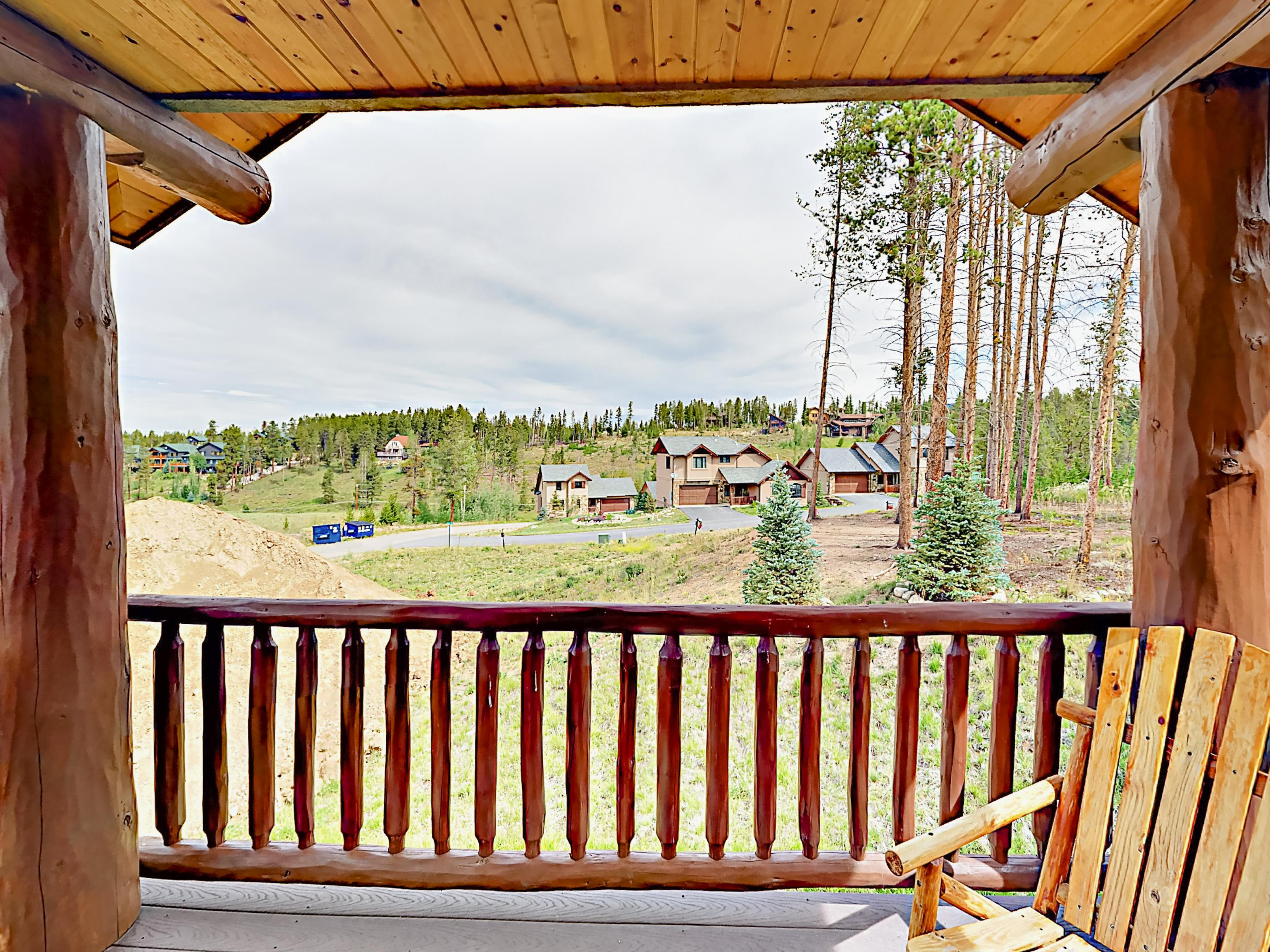 Enjoy alpine views while lounging on the back deck.