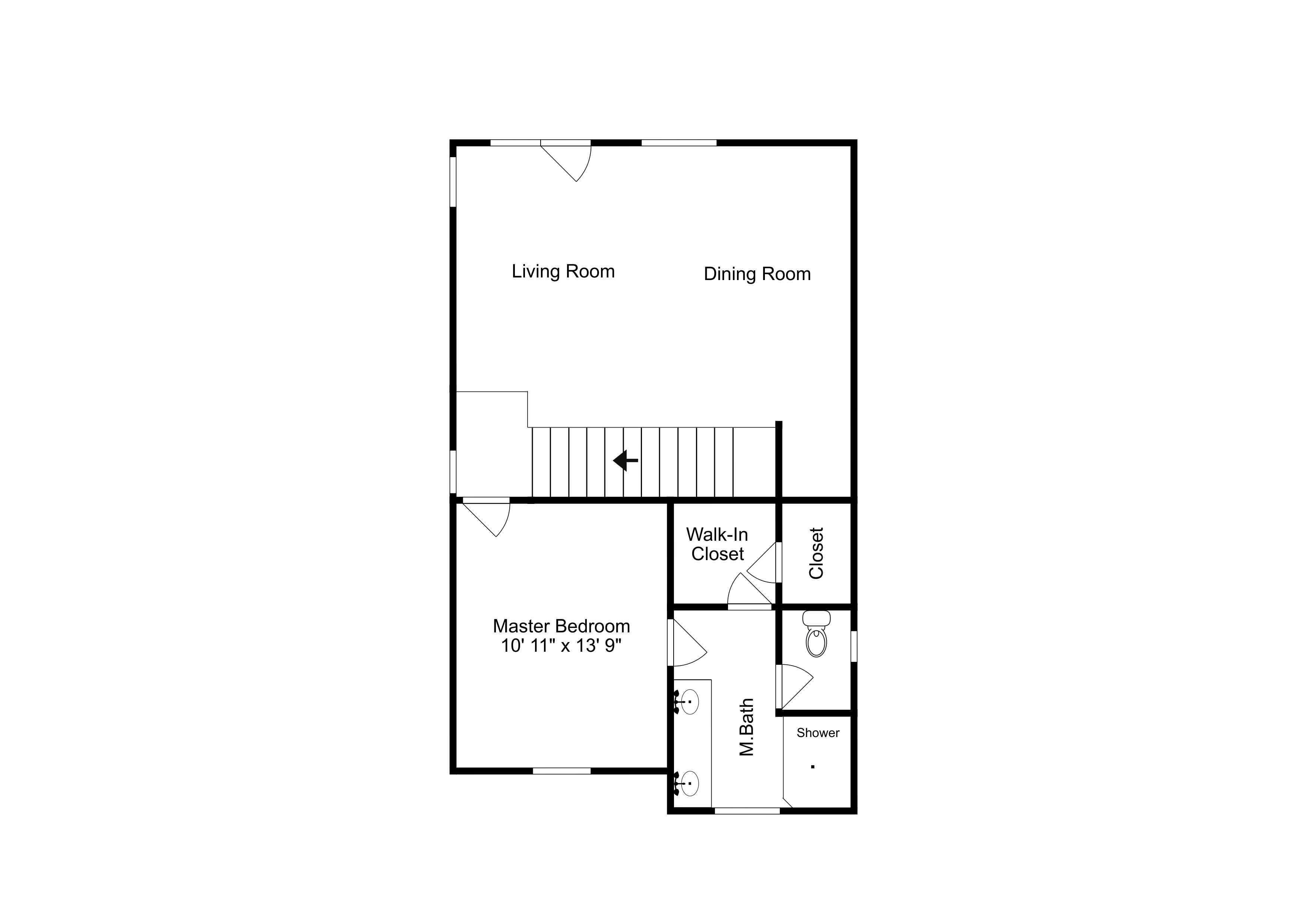This second floor layout is an approximation and may not include the most recent information.