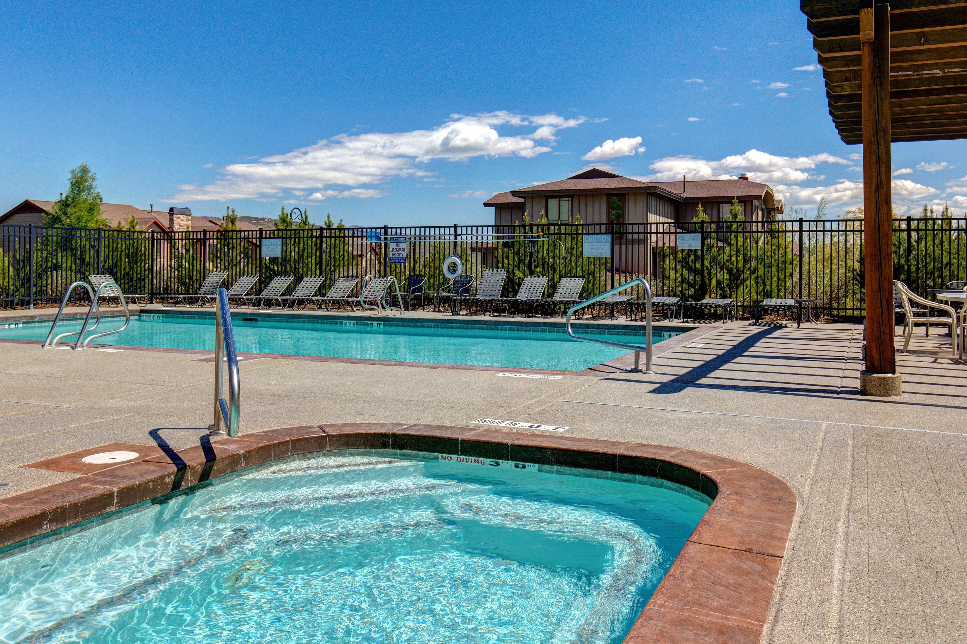 As part of Bear Hollow Village, enjoy an array of amenities, including a clubhouse pool and spa.