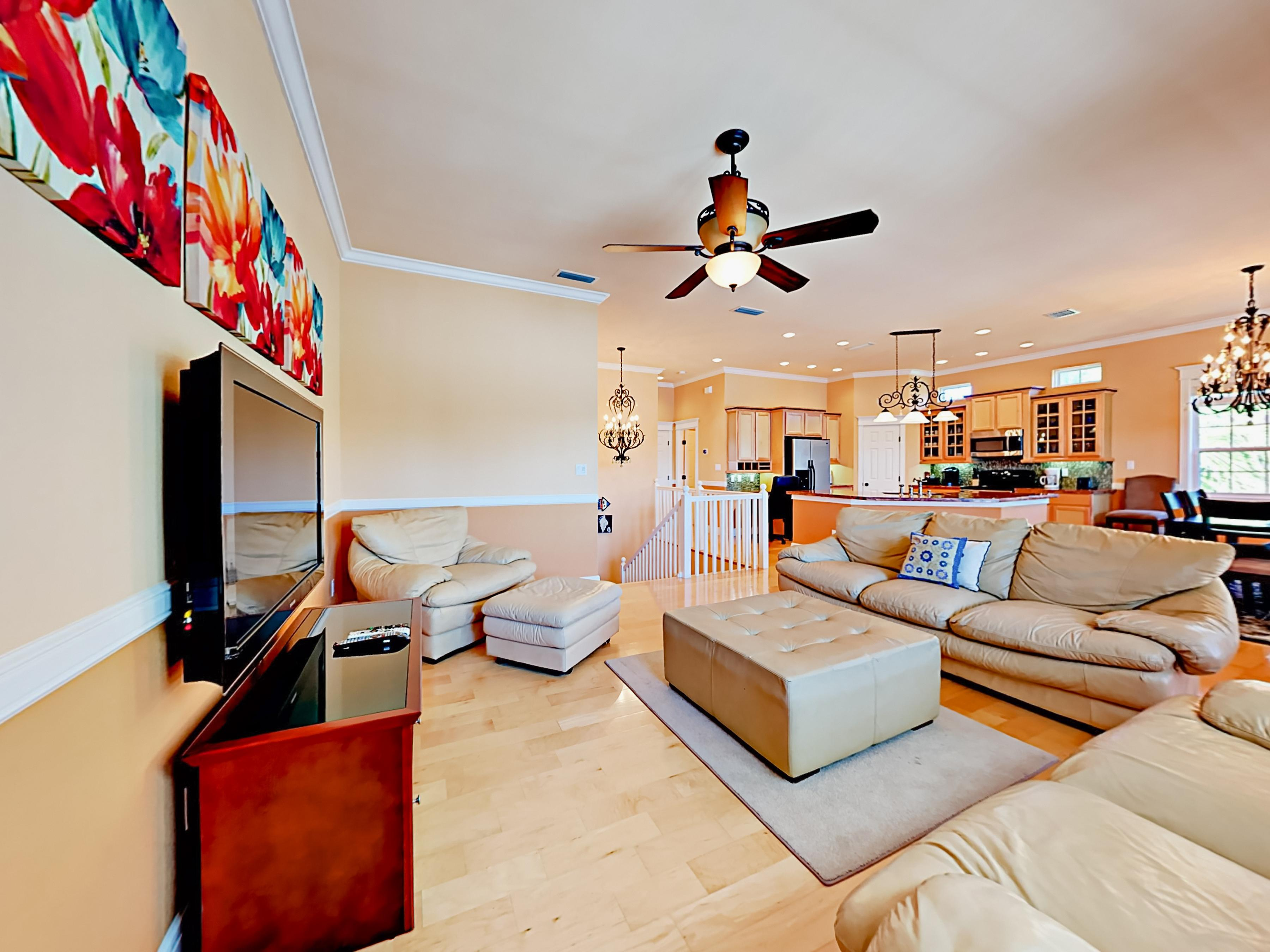 Welcome to South Padre Island! The open floor plan living space keeps the conversation going.
