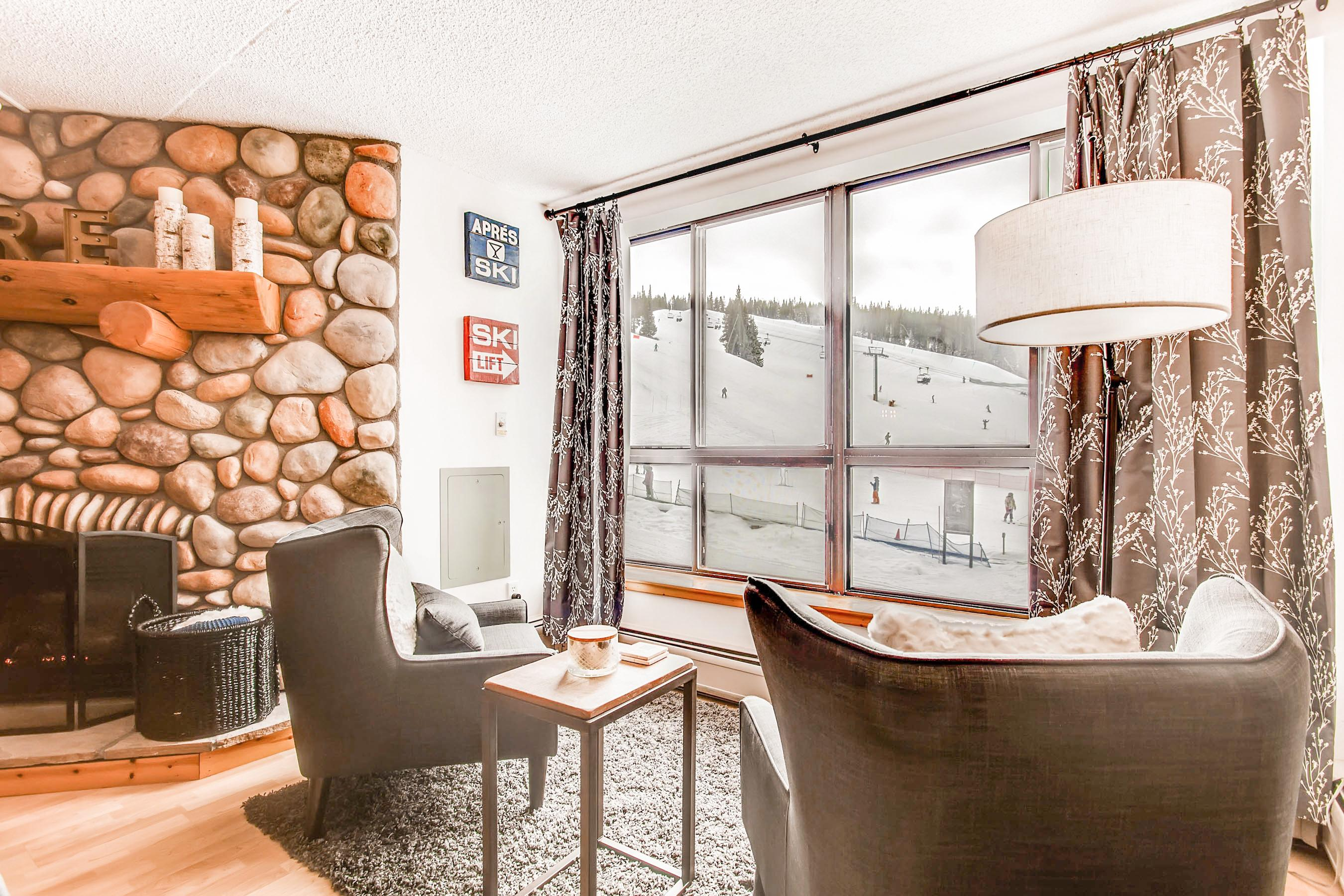 Take in the breathtaking mountain views from the comfort of your own living area.