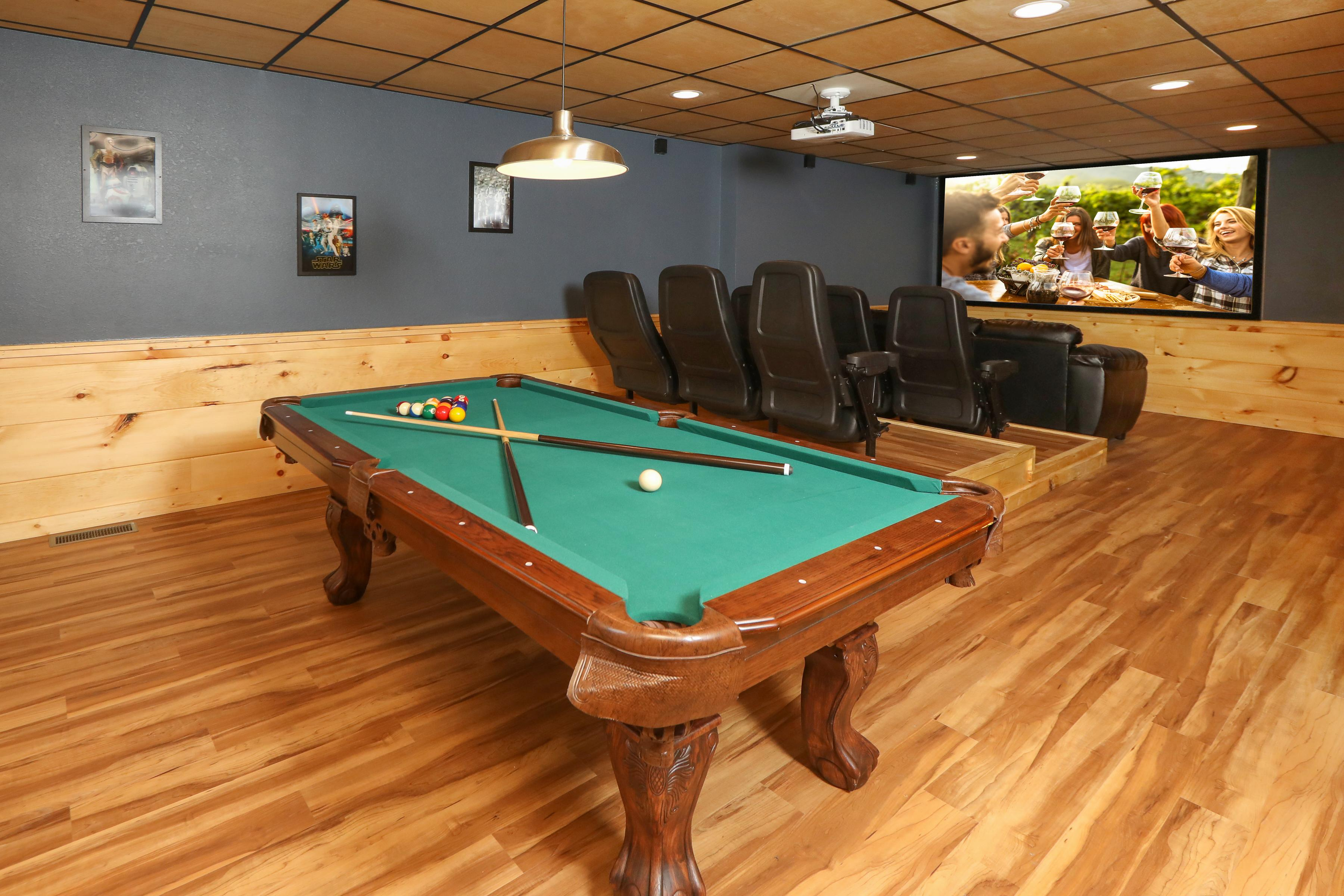 Rack up the pool table or catch a movie in the dedicated theater room!