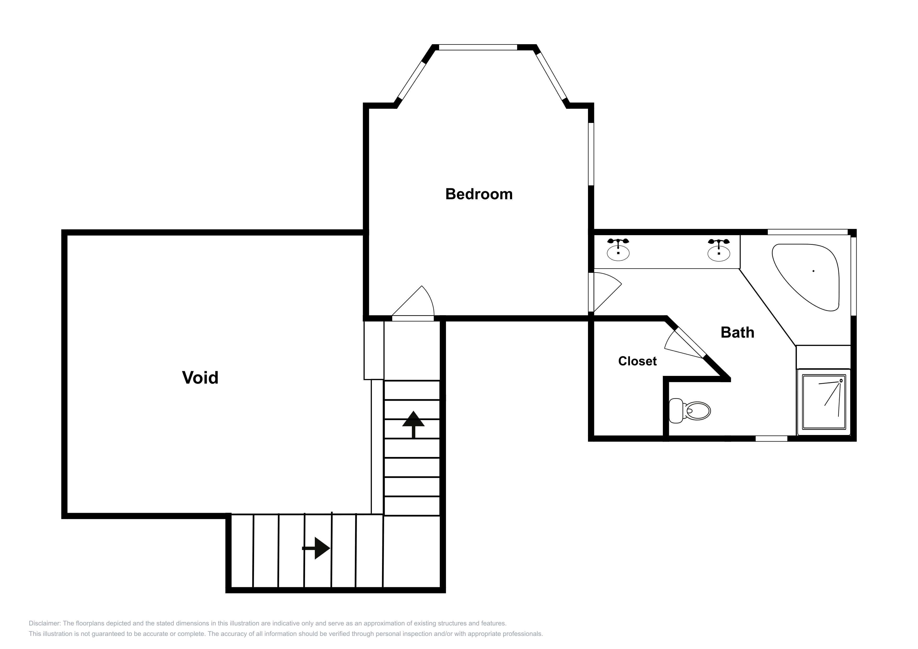 This floor plan is an approximation of the 2nd floor and may not include the most recent information.