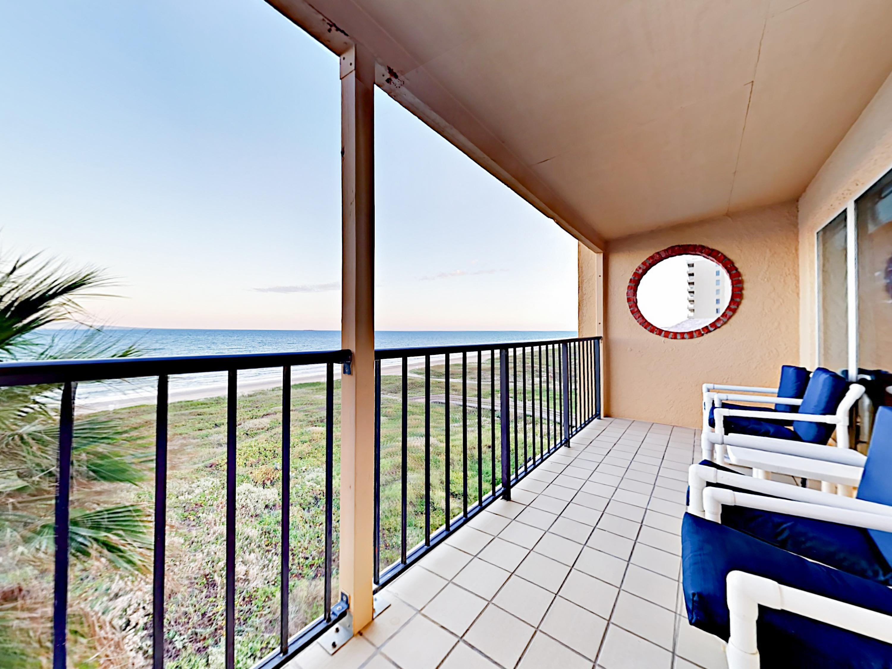 Relax on your balcony with gorgeous Gulf views. This property is maintained and managed by TurnKey Vacation Rentals.