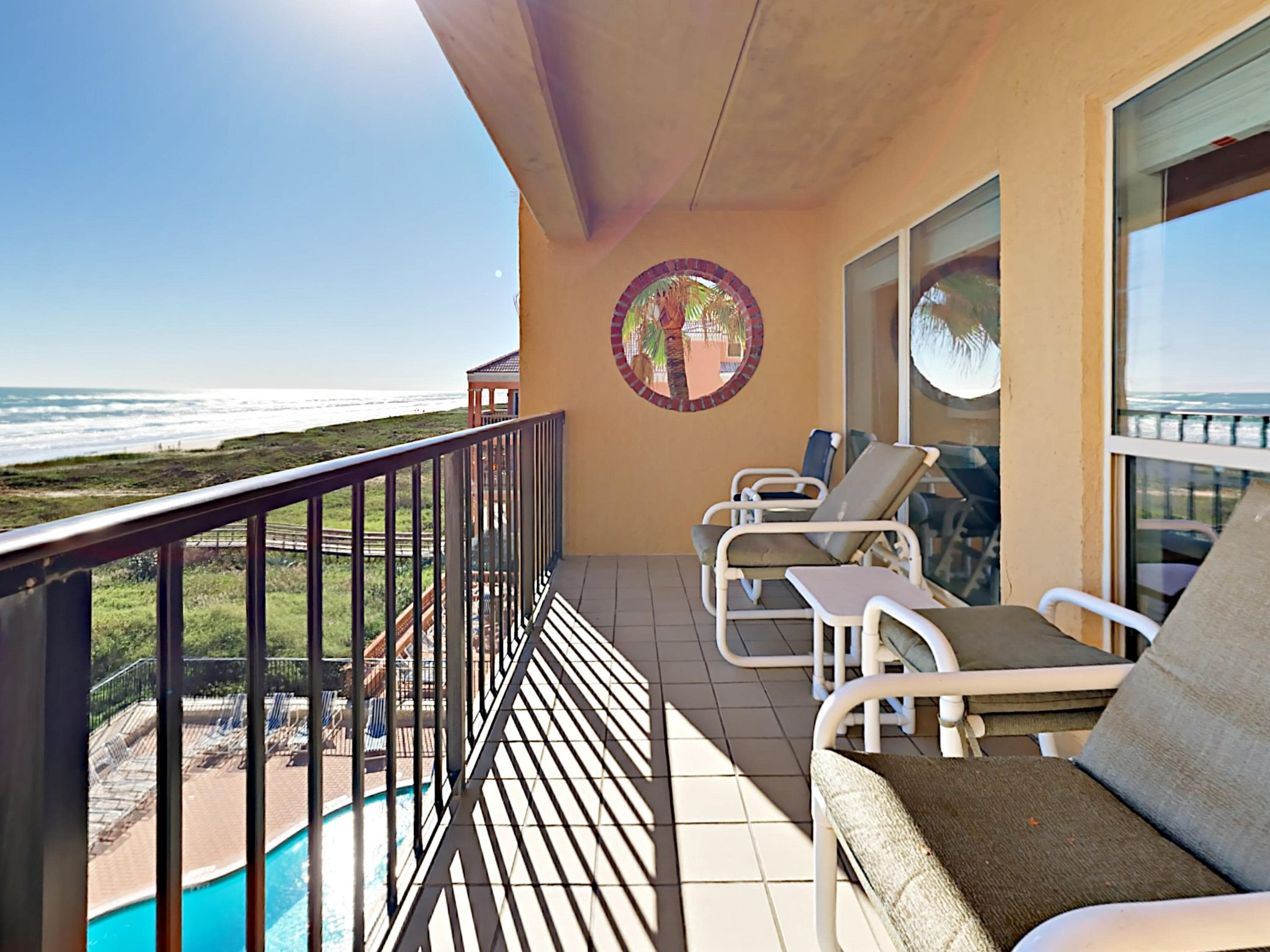 Enjoy stunning Gulf views from your furnished balcony. This property is maintained and managed by TurnKey Vacation Rentals.