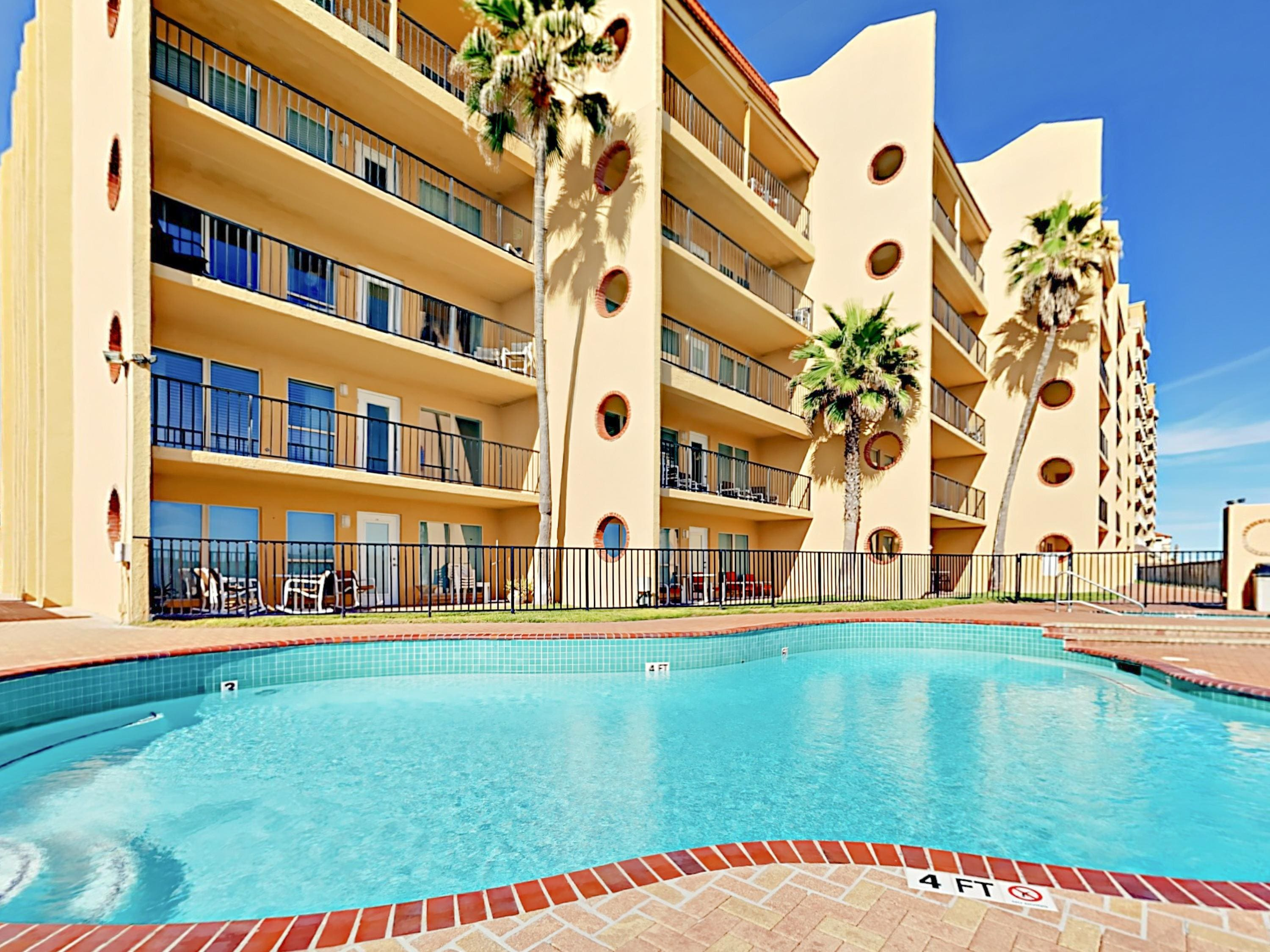 Take a dip in the gorgeous pool at your condominium complex.
