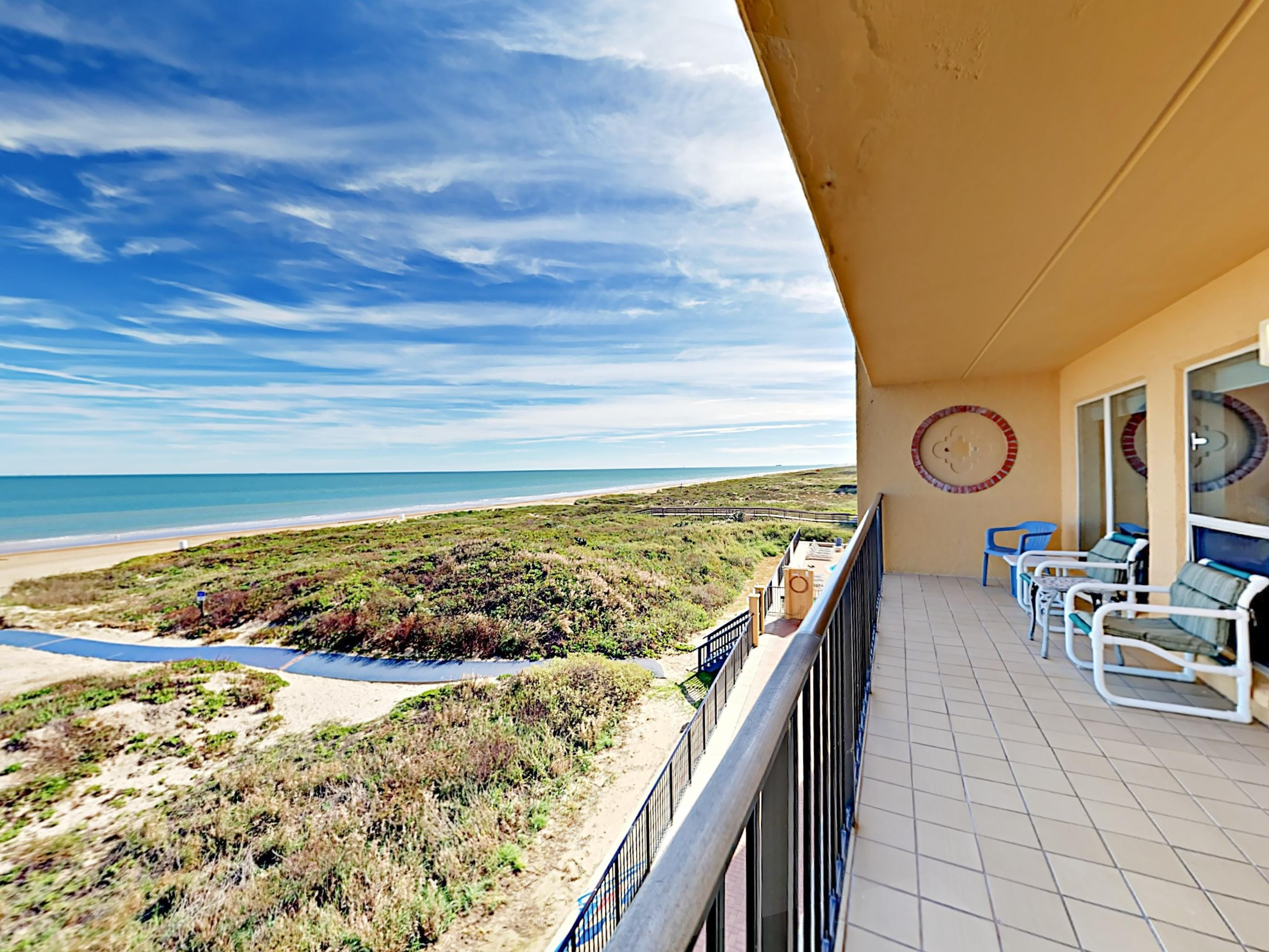 Welcome to South Padre Island! Enjoy 180-degree gulf views from your balcony. This stunning beachfront condo is professionally managed by TurnKey Vacation Rentals.