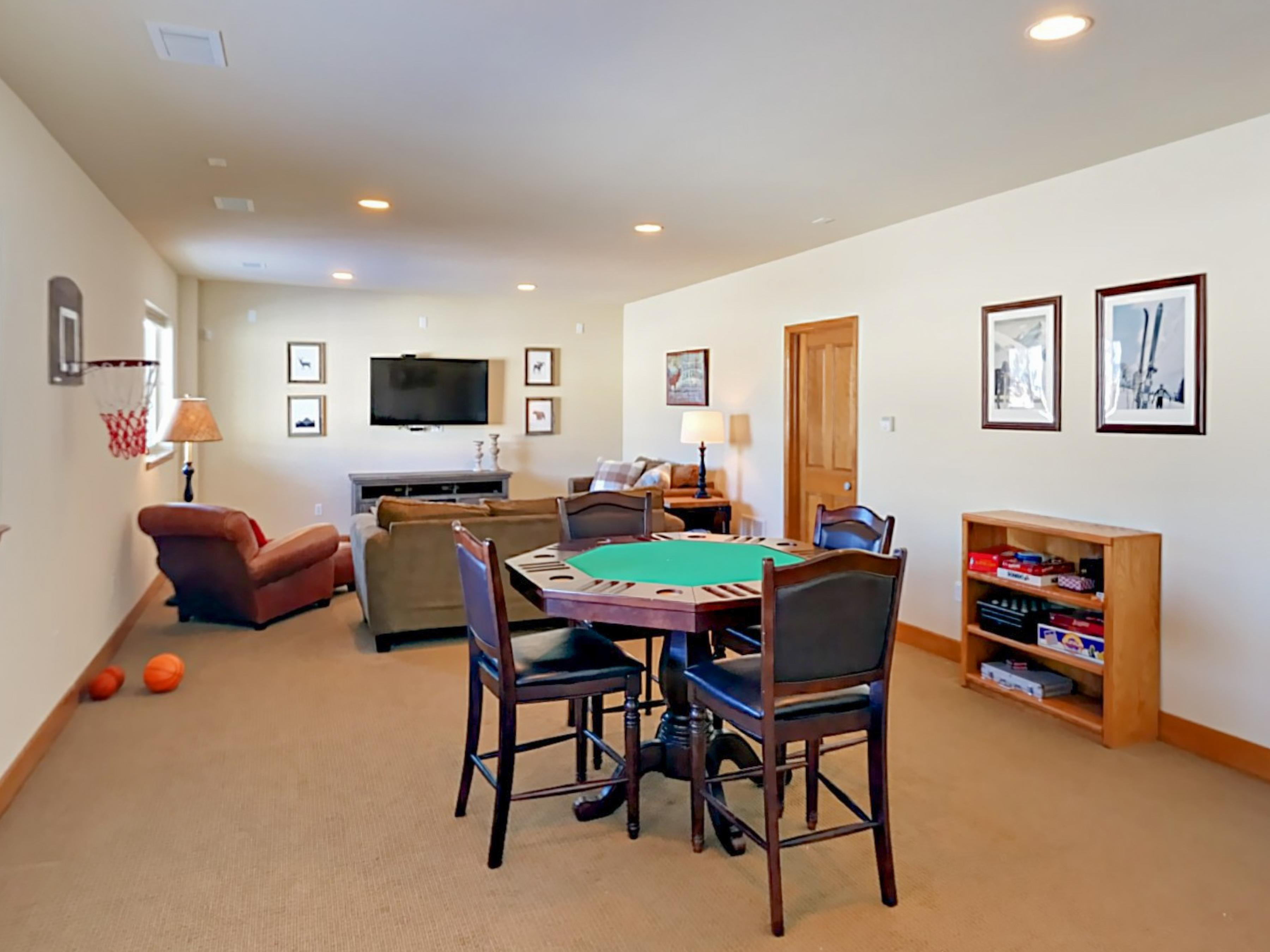 Show your skills at the poker table in the 2nd living room.
