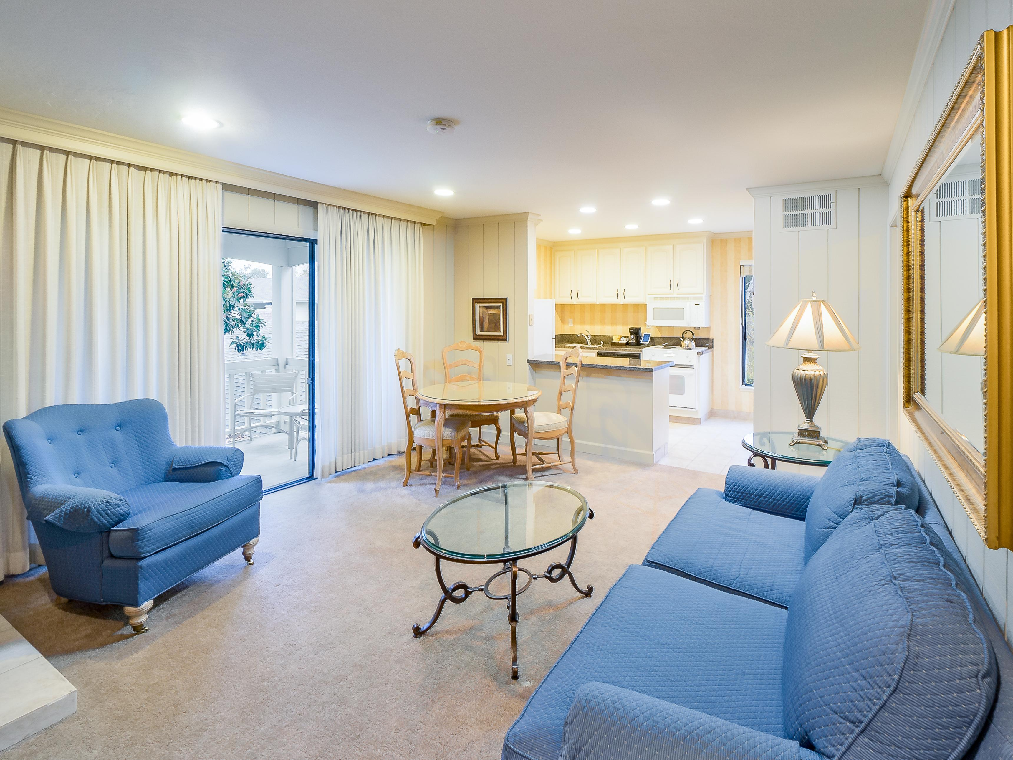 Welcome to Napa! Relax in the open-plan living area, outfitted with comfy seating and plenty of natural light.