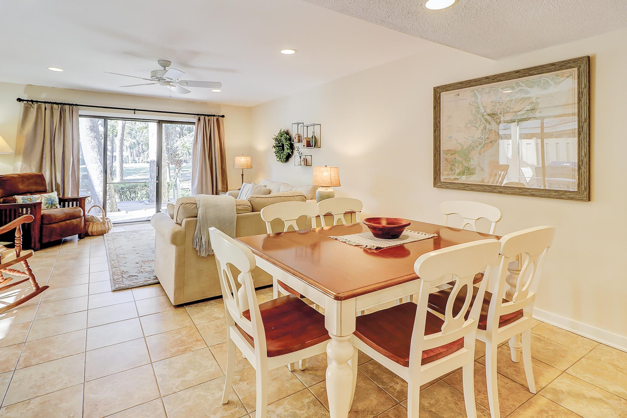 Great for entertaining, the kitchen, dining area, and living room are all open to each other.