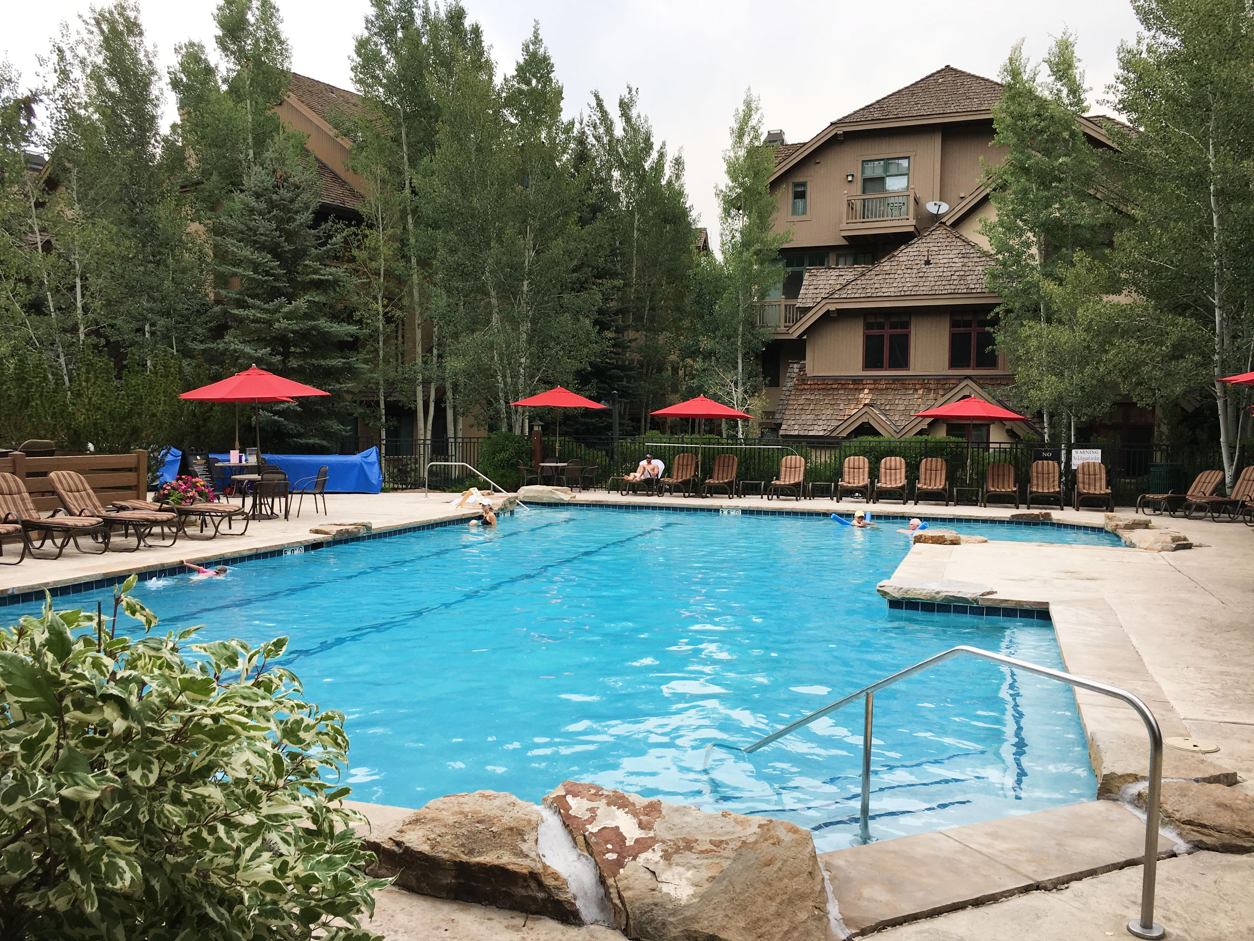 Enjoy access to Arrowhead Village amenities including a heated pool and hot tubs, as well as a fire pit in the winter.