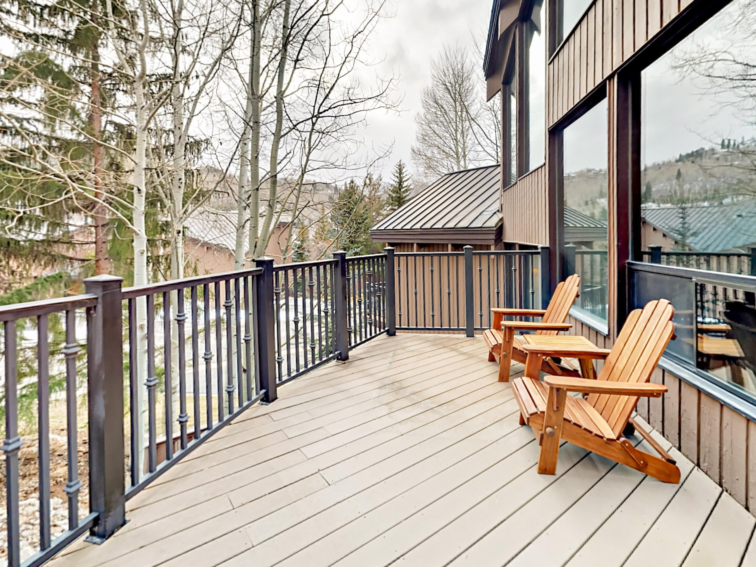 The 3-story home features 2 private balconies with views of Deer Valley and Park City.